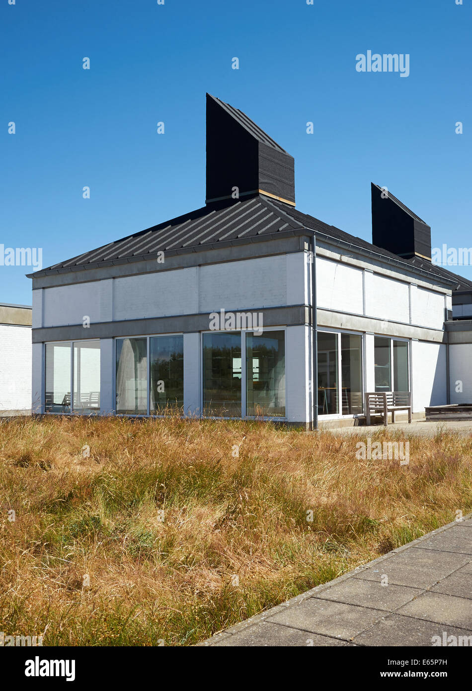 Skagen Odde Nature Centre, Denmark designed by danish architect Jørn Utzon - Stock Image