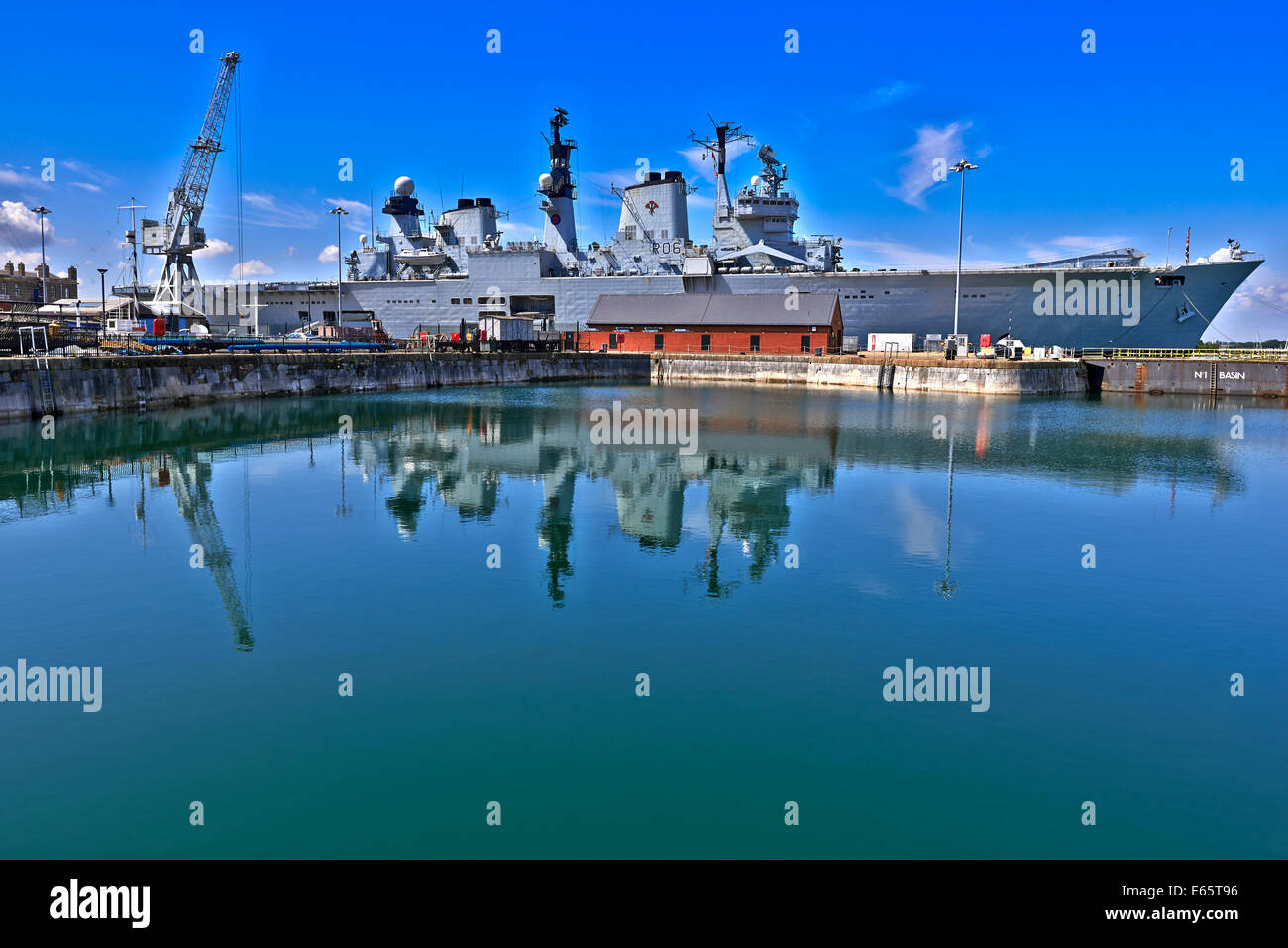 Her Majesty's Naval Base (HMNB) Portsmouth is one of three operating bases in the United Kingdom for the British - Stock Image