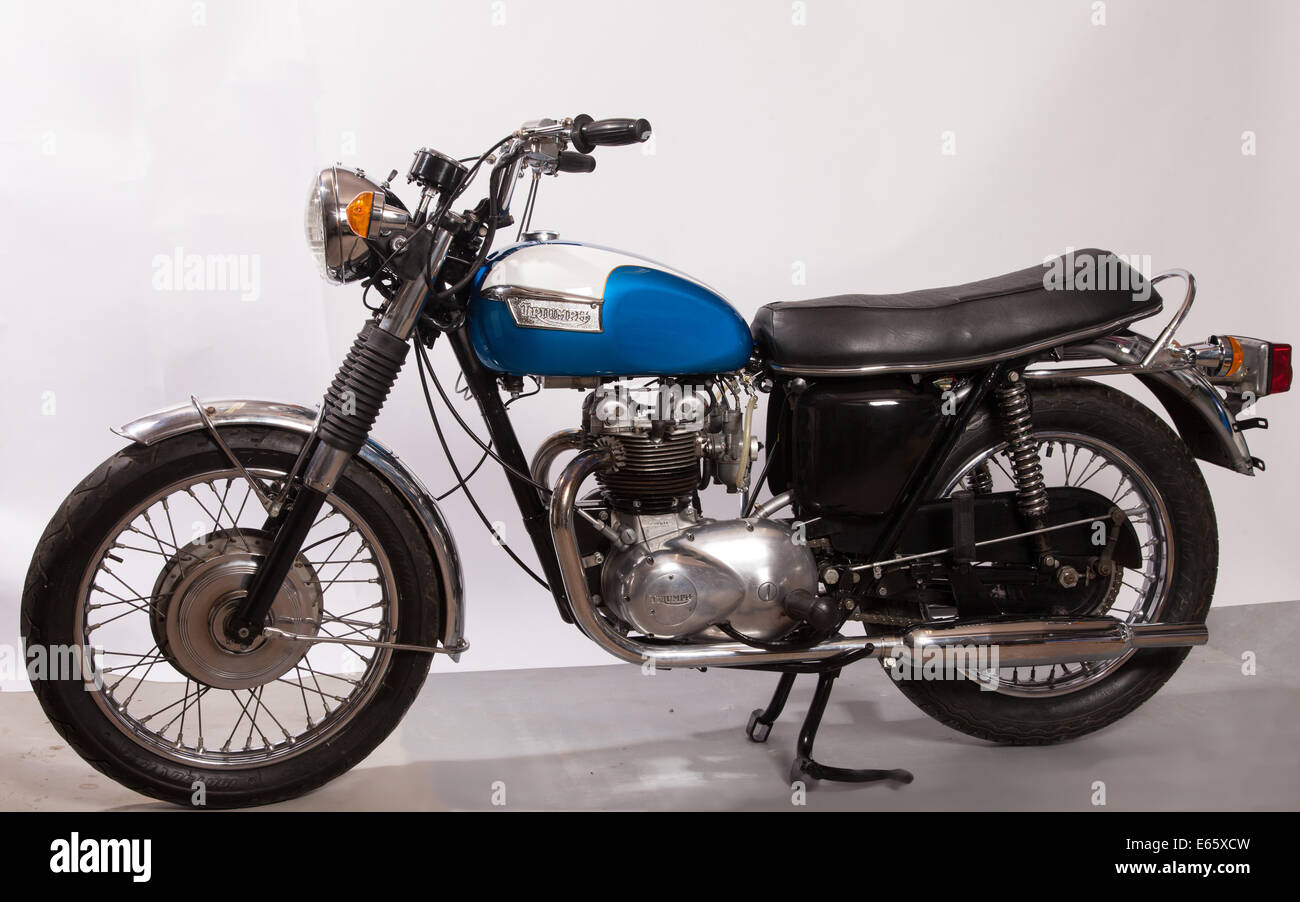 Classic British Motorcycle Stock Photos Classic British Motorcycle