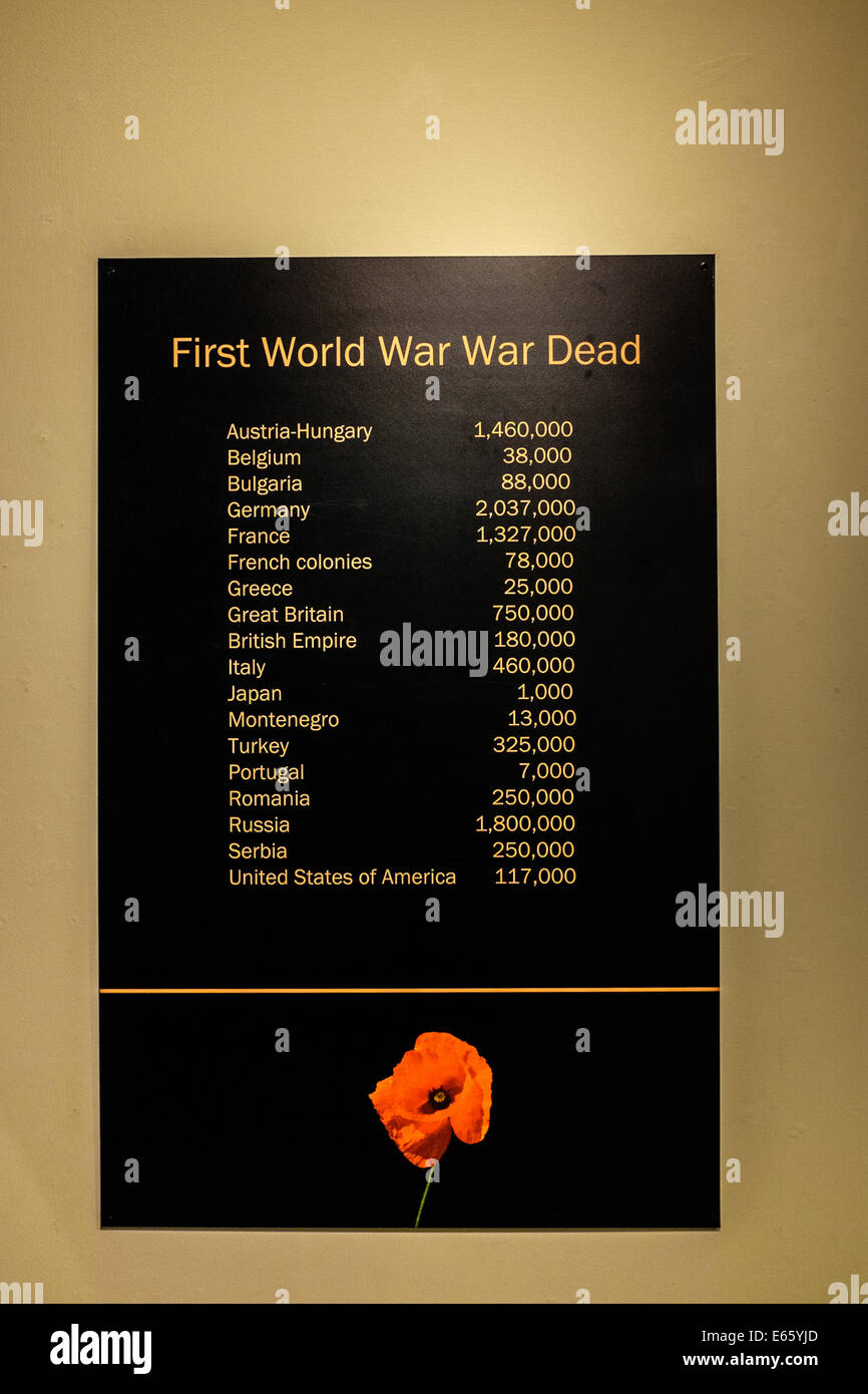 First World War Dead - Stock Image