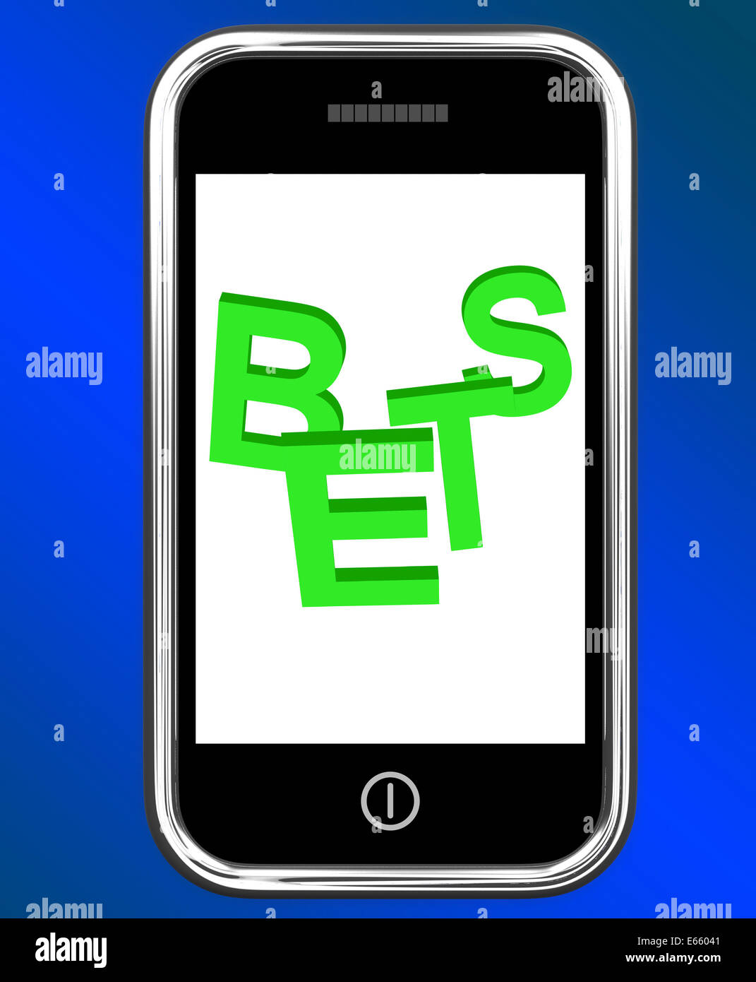Bets On Phone Showing Online Or Internet Gambling - Stock Image