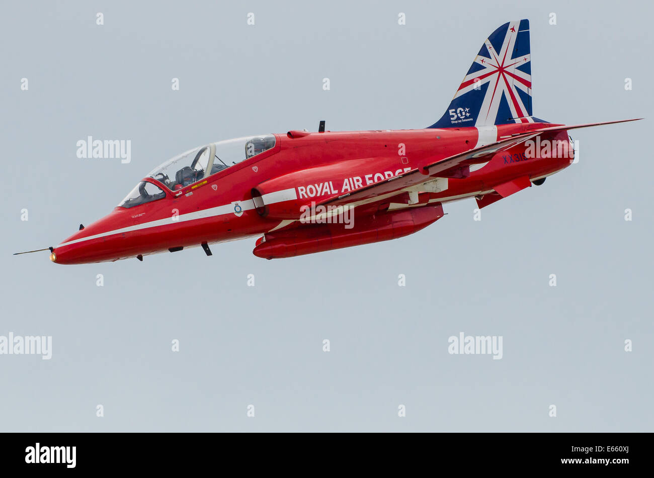 Red Arrows solo jet at 'Airbourne' - the Eastbourne Airshow - Stock Image