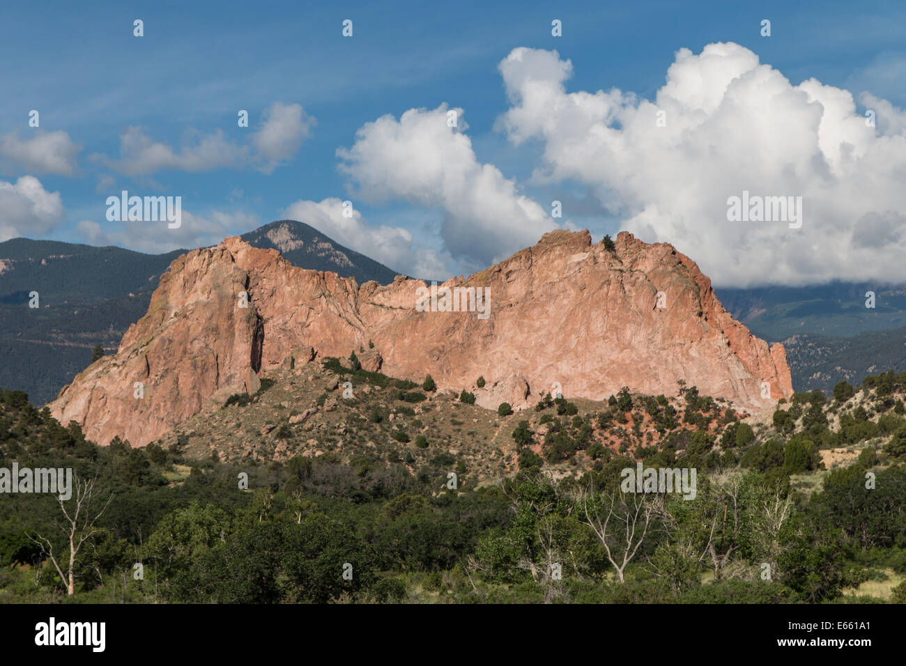 Cathedral Rock - Garden of the Gods - Stock Image