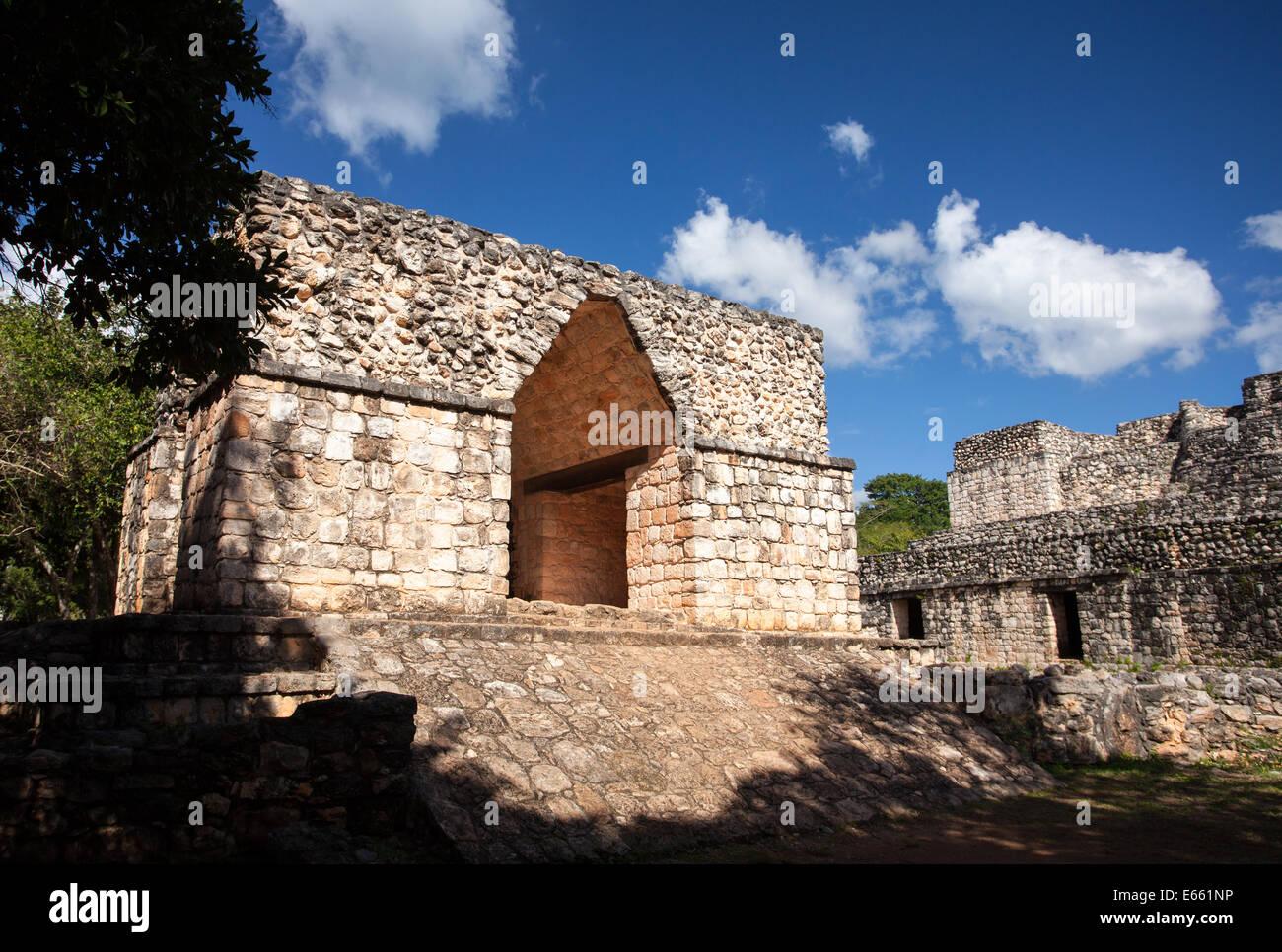 The Arch at Ek Balam, Yucatan, Mexico. - Stock Image