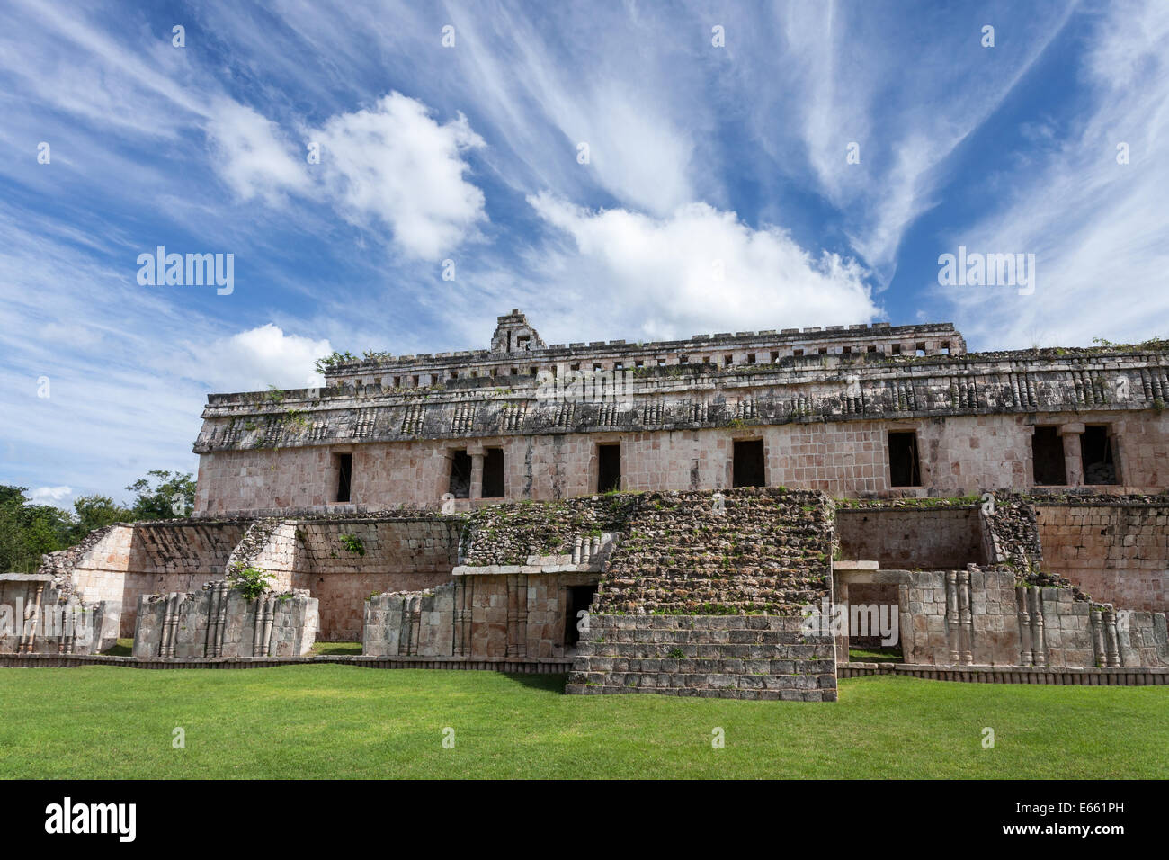 The Teocalli or Two Storied Palace at Kabah, Yucatan, Mexico. Stock Photo