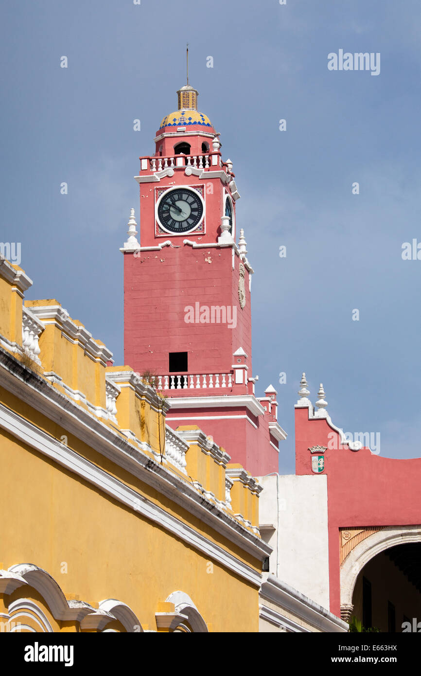 Tower of the Government Palace in Merida, Yucatan, Mexico. - Stock Image