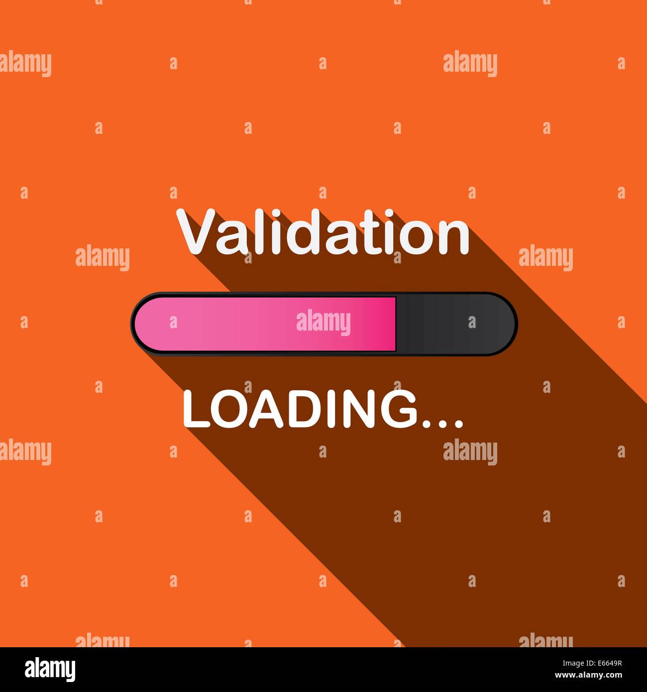 Long Shadow Loading Illustration - Validation - Stock Image