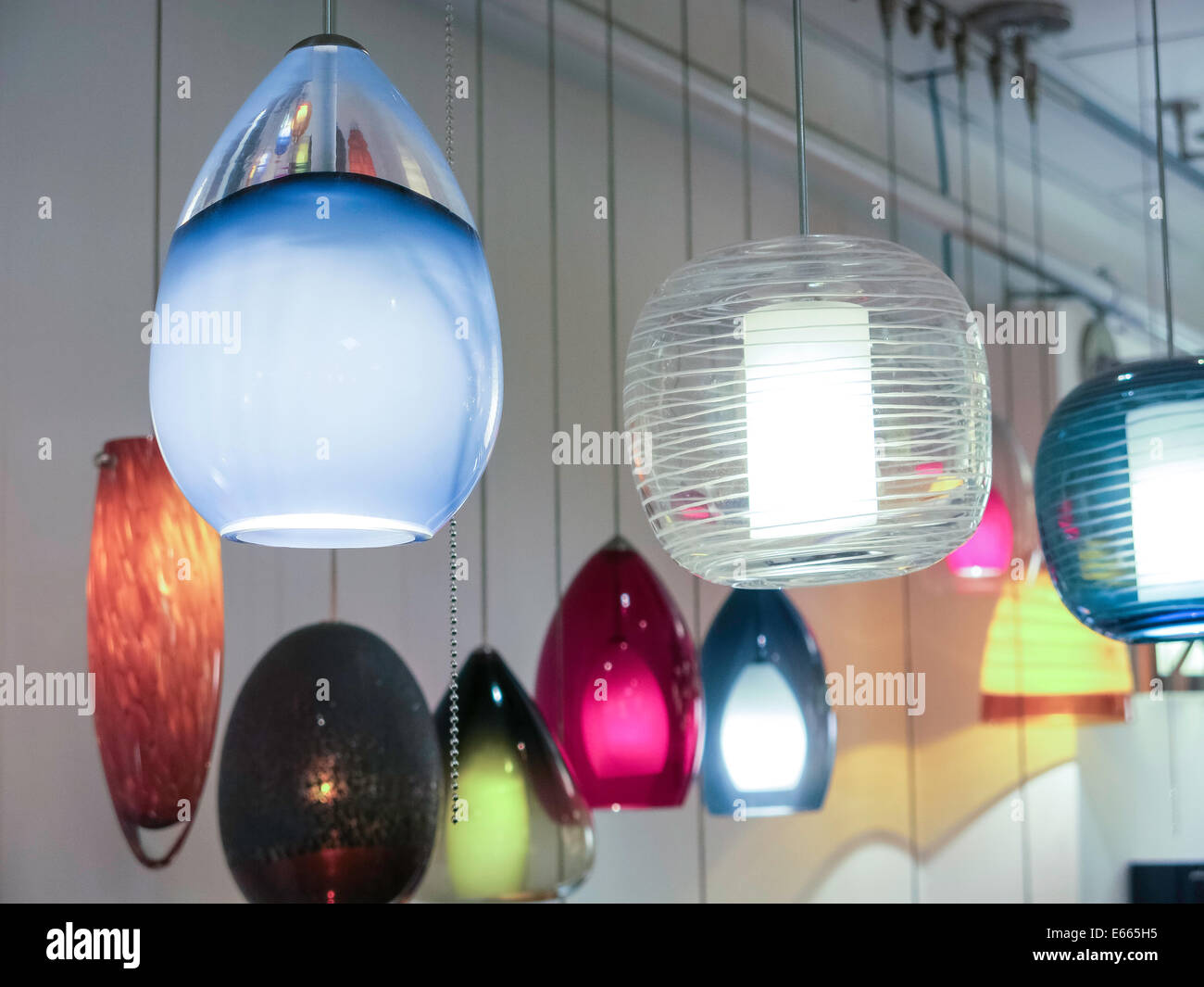Lighting by Gregory Store Showroom in The Bowery NYC USA & Lighting by Gregory Store Showroom in The Bowery NYC USA Stock ...