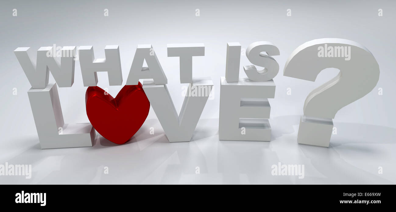 What is love? 3D image - Stock Image