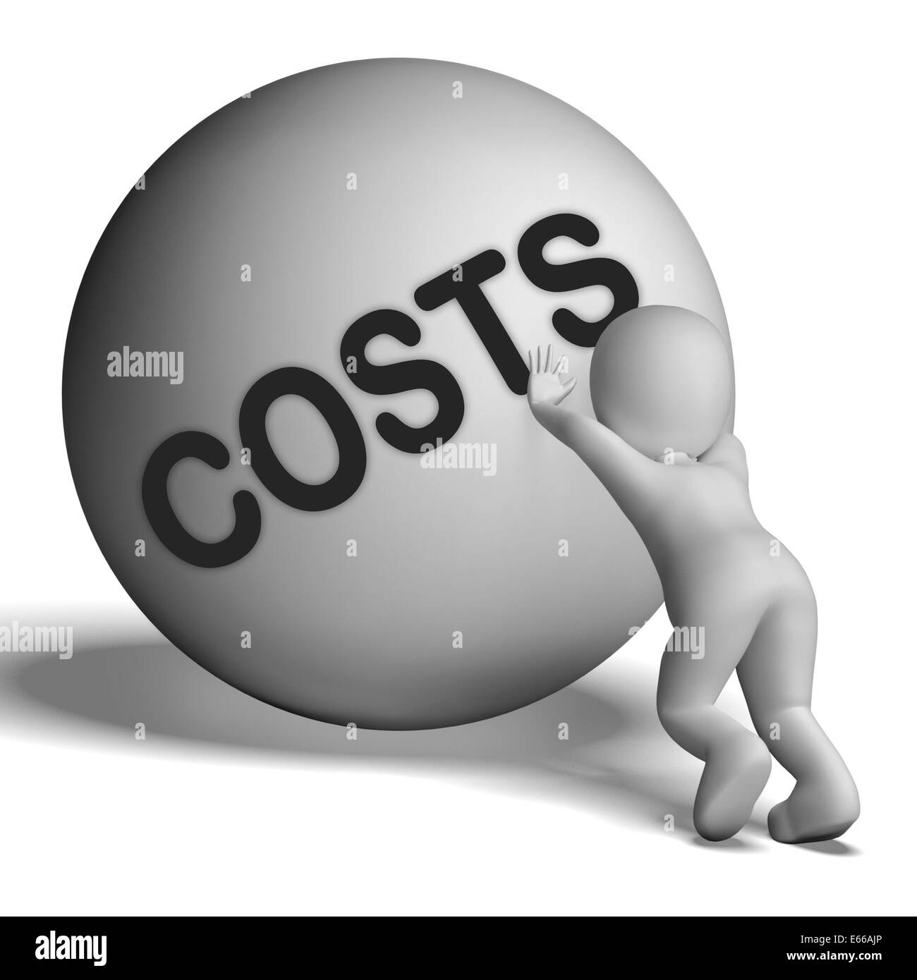 Costs Character Meaning Expenses Price And Outlay - Stock Photo