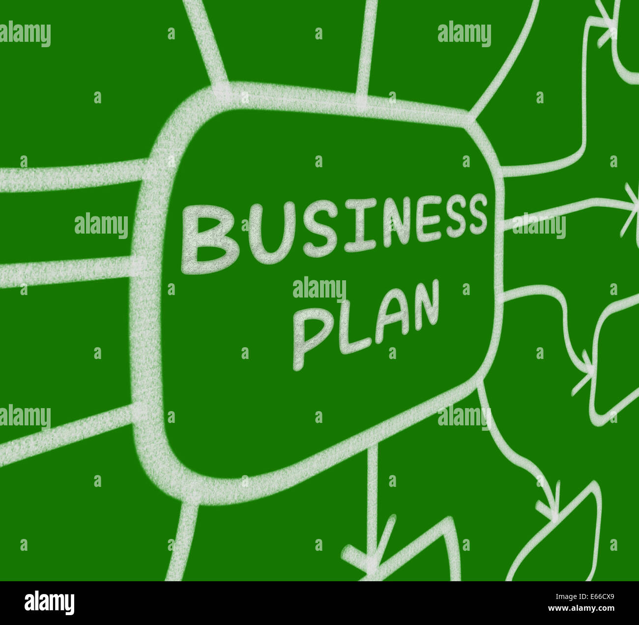 Business Plan Diagram Meaning Company Organization And Strategy Stock Photo Alamy