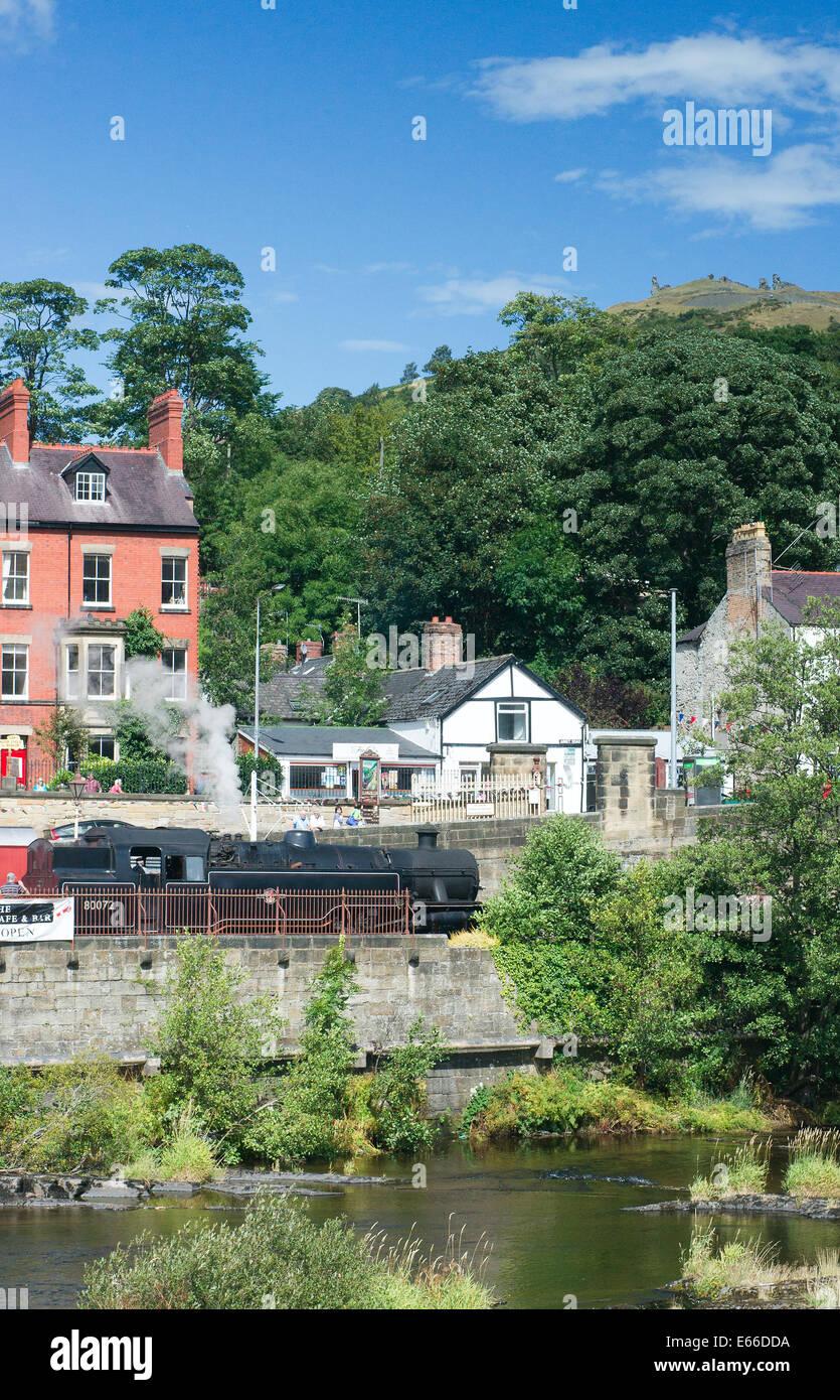 Llangollen steam railway Stock Photo