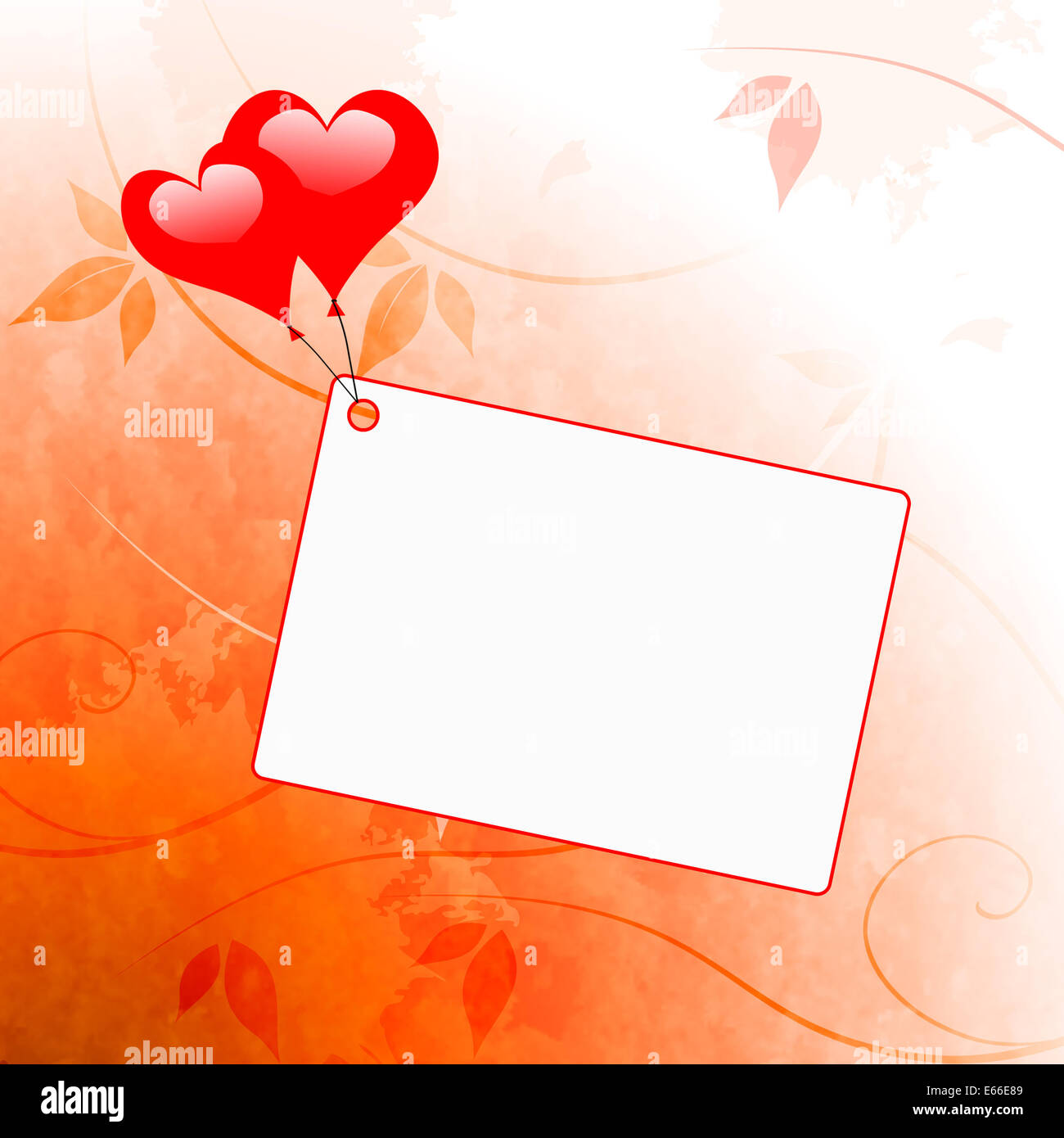 Heart Balloons On Note Meaning Wedding Invitation Or Love Letter
