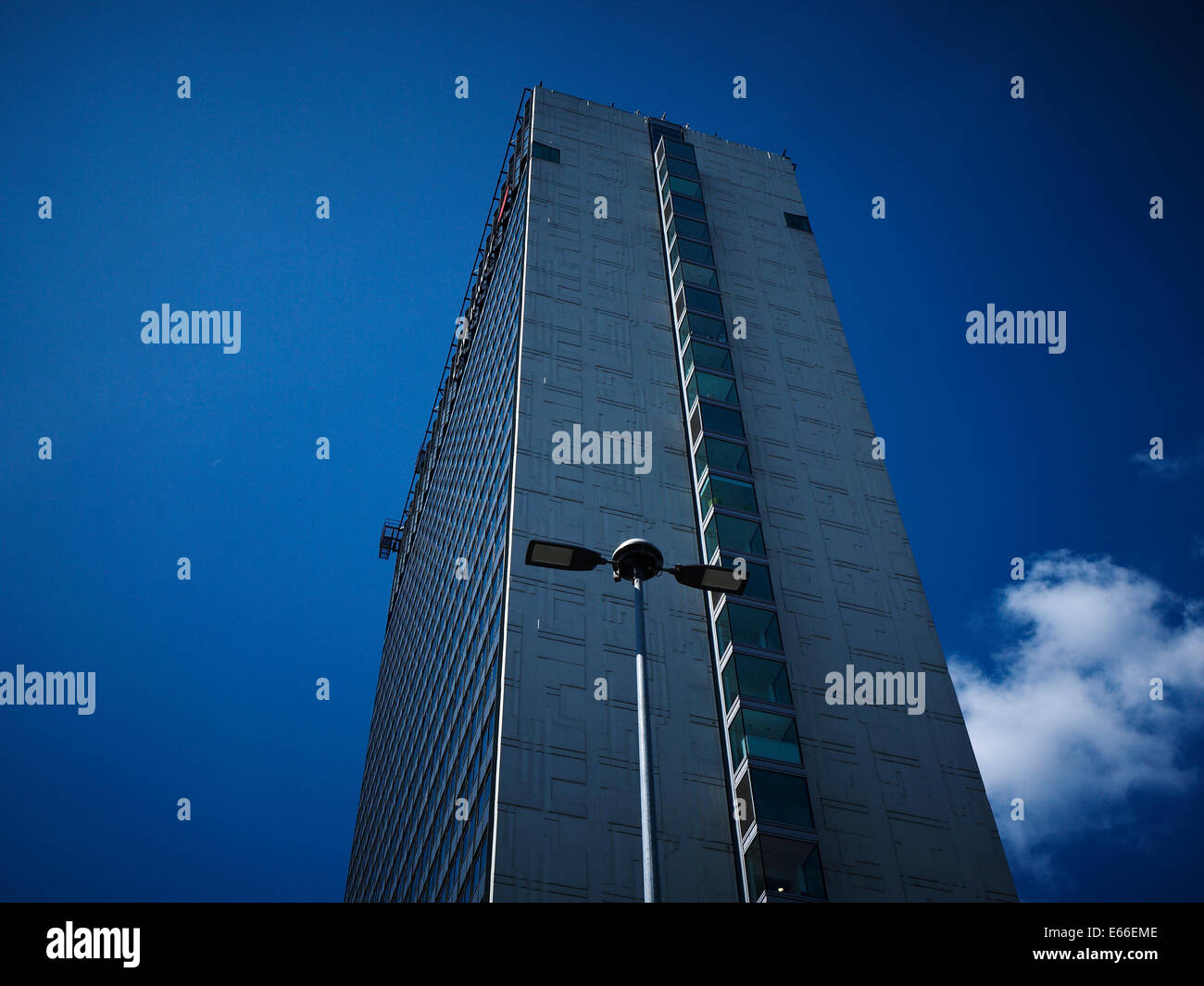 City tower in Manchester UK - Stock Image