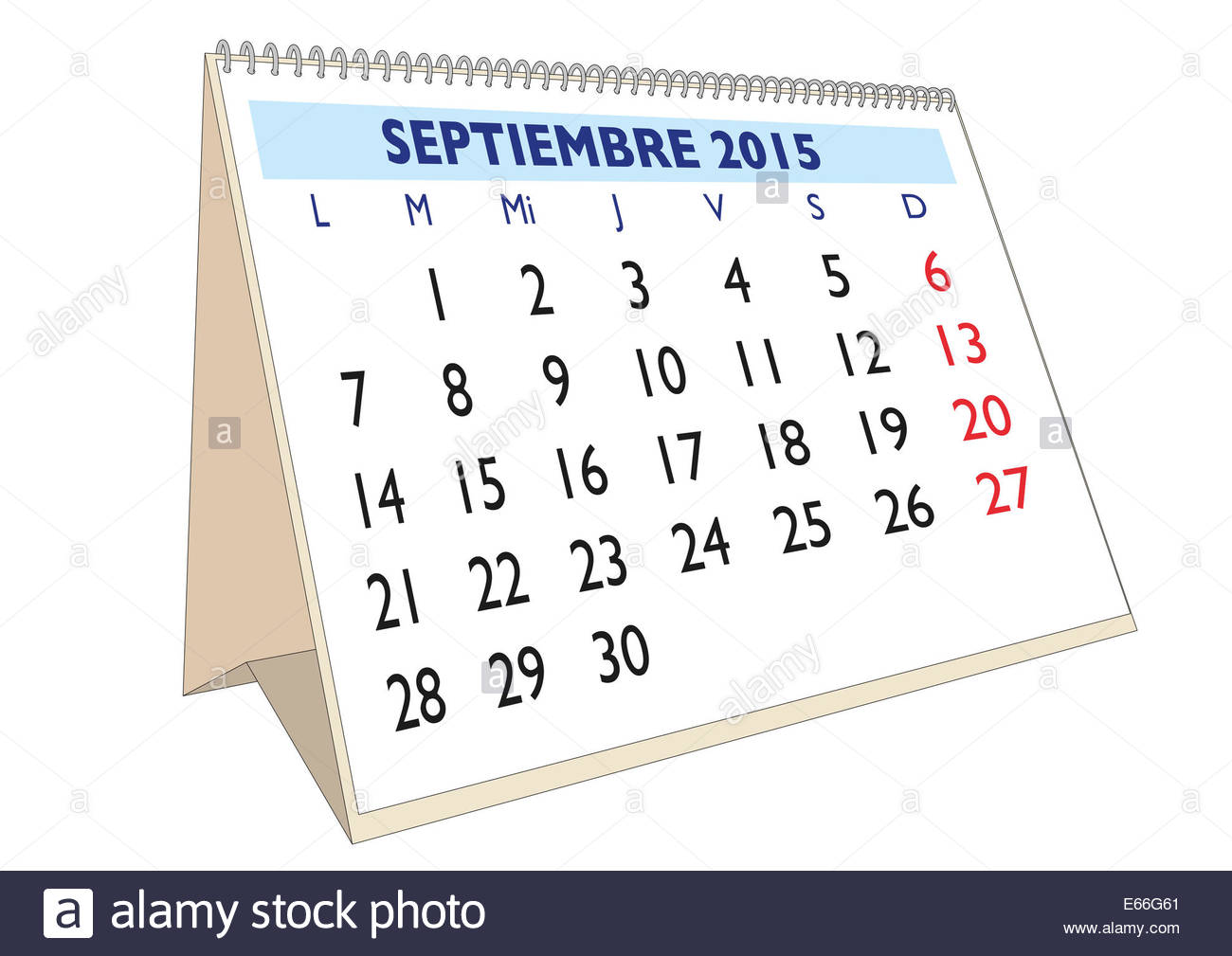 september month in a year 2015 calendar in spanish septiembre 2015