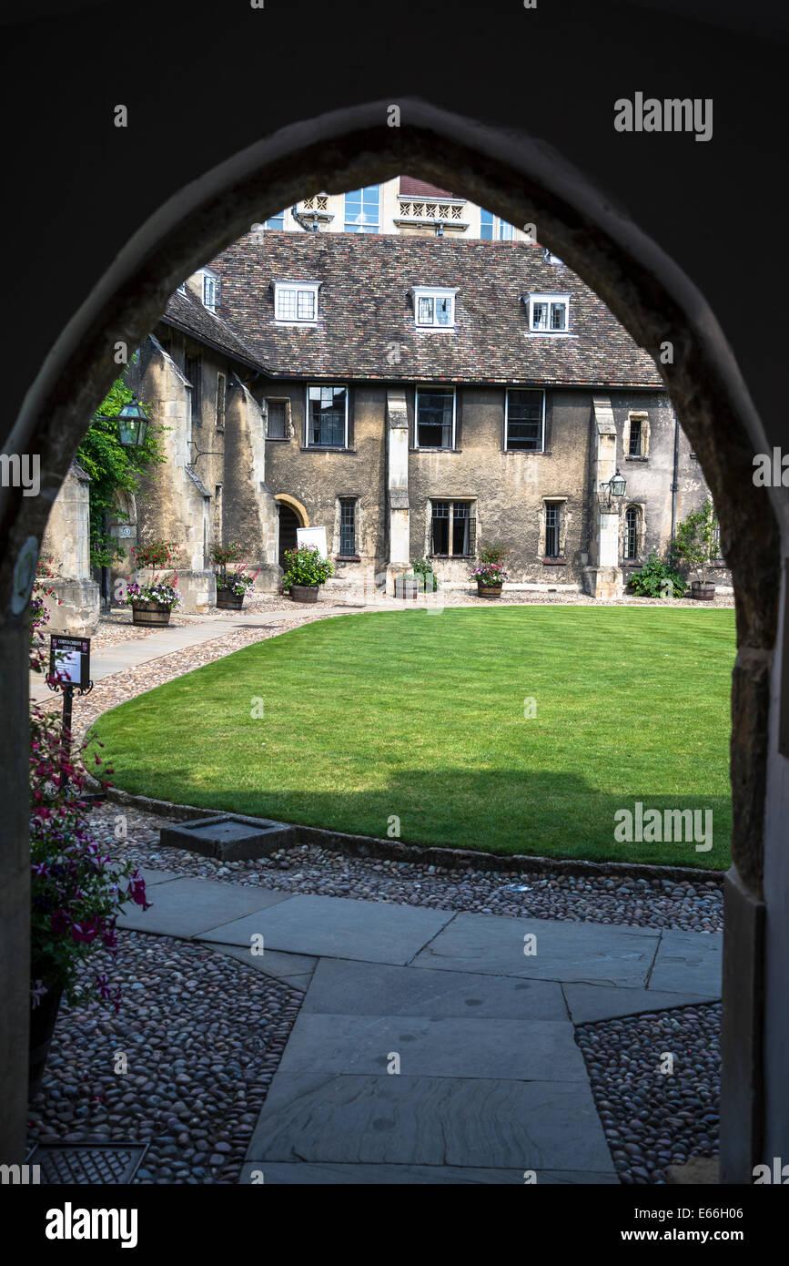 Corpus Christi College, Old Court, Cambridge, England, UK - Stock Image