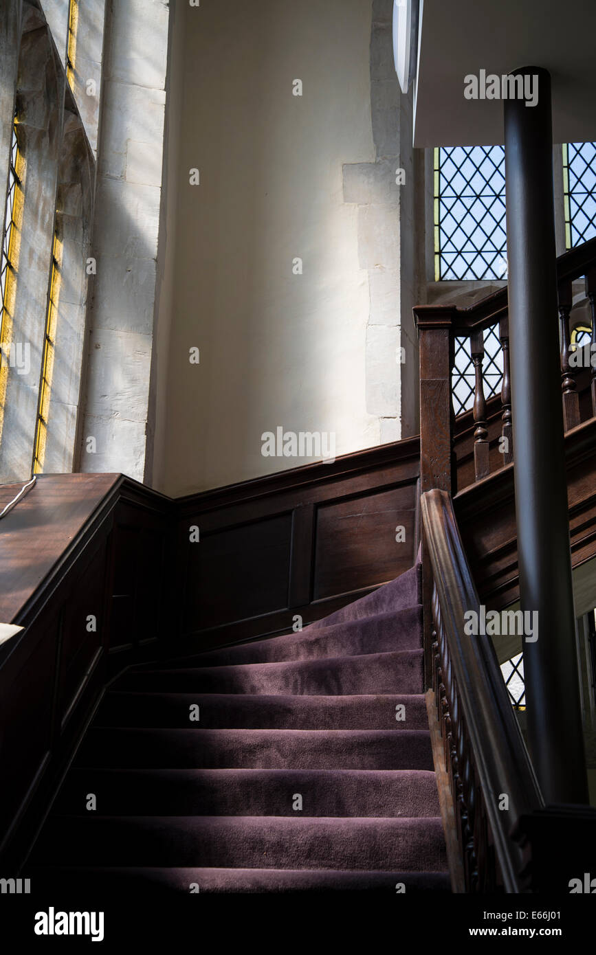 Great St Mary's Church, Stairs, Cambridge, England, UK - Stock Image