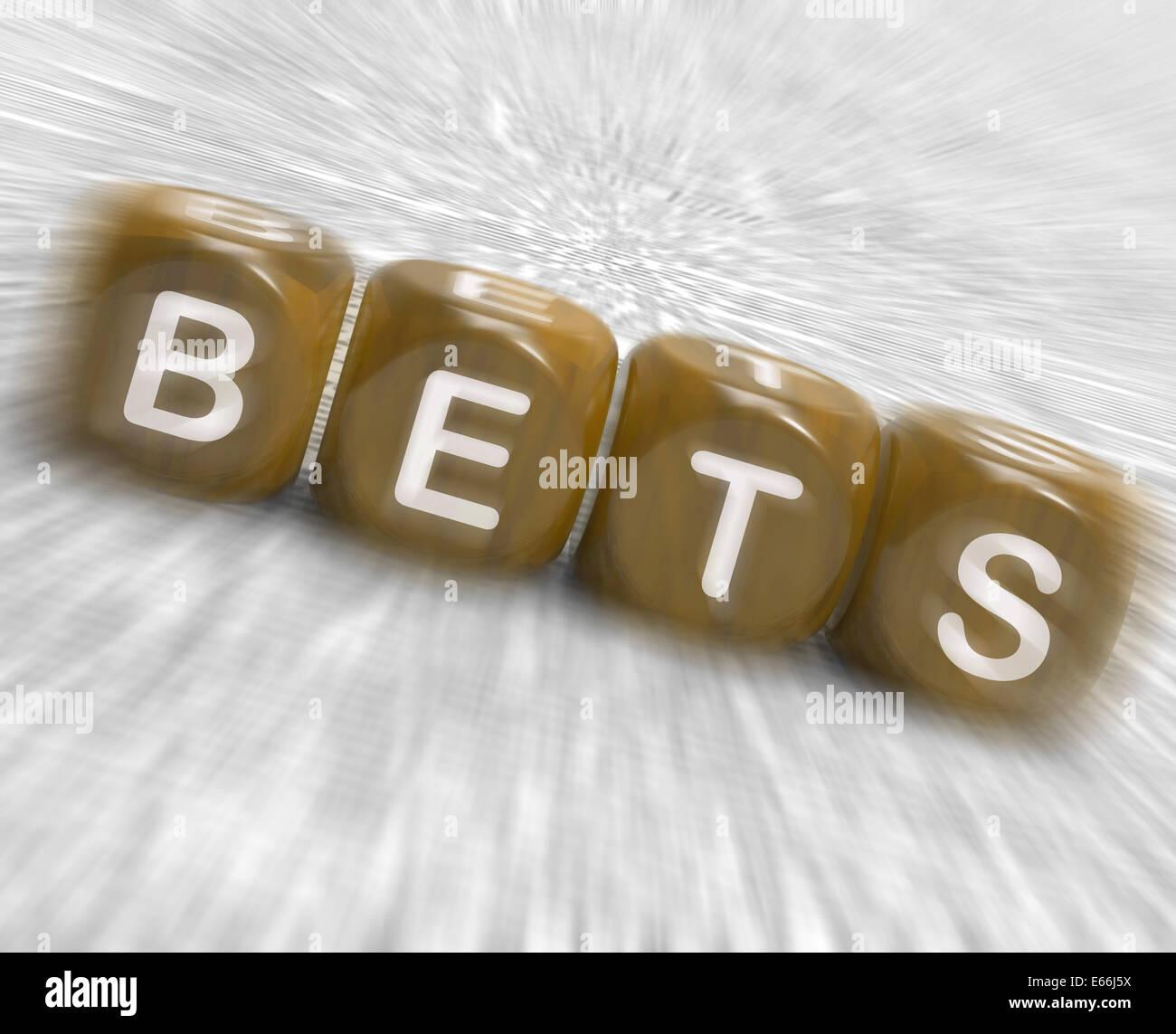 Bets Dice Displaying Gambling Chance Or Sweep Stake - Stock Image