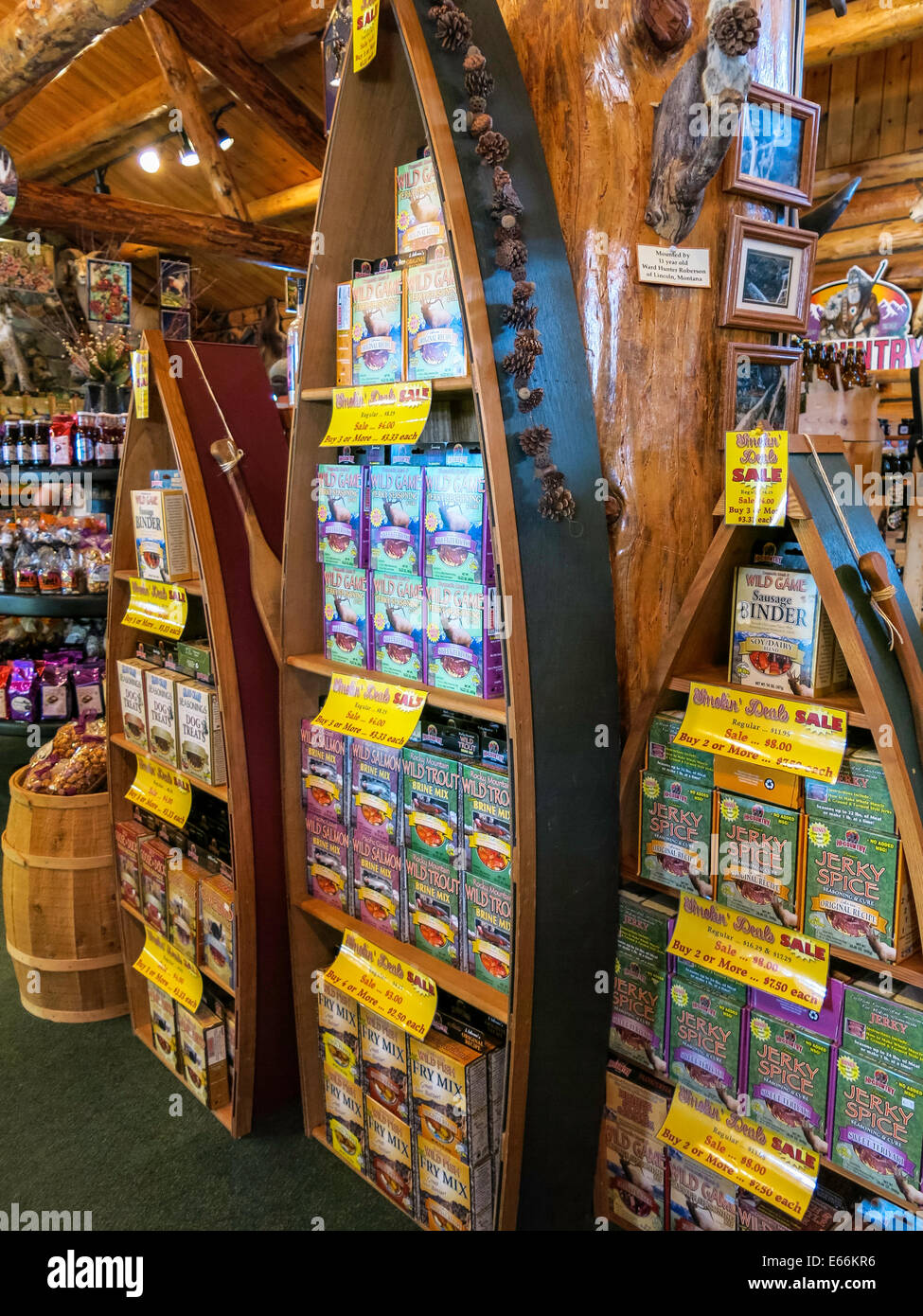 Hi-Country Trading Post, Lincoln, Montana - Stock Image