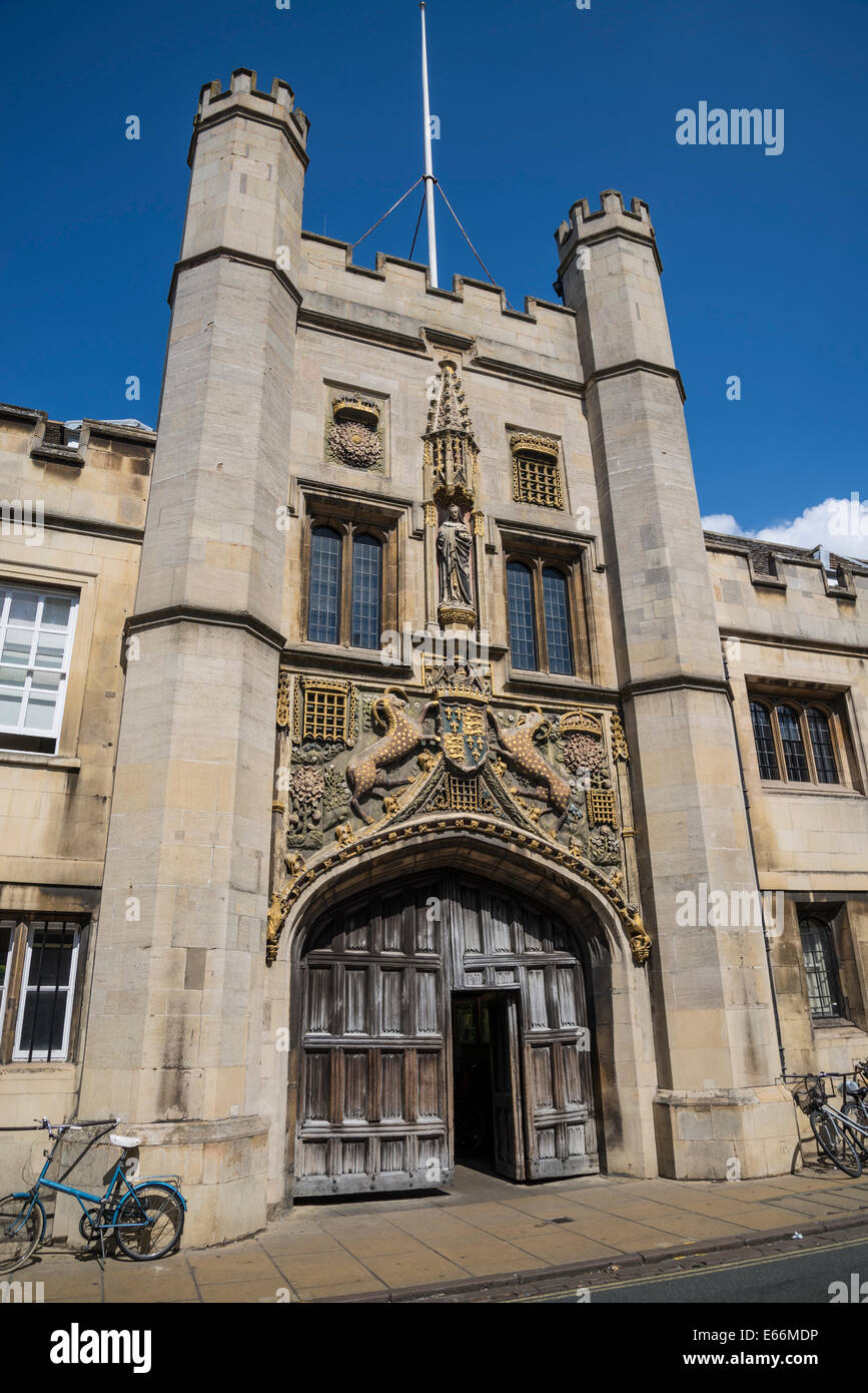 Christ's College, The Great Gate, Cambridge, England, UK - Stock Image