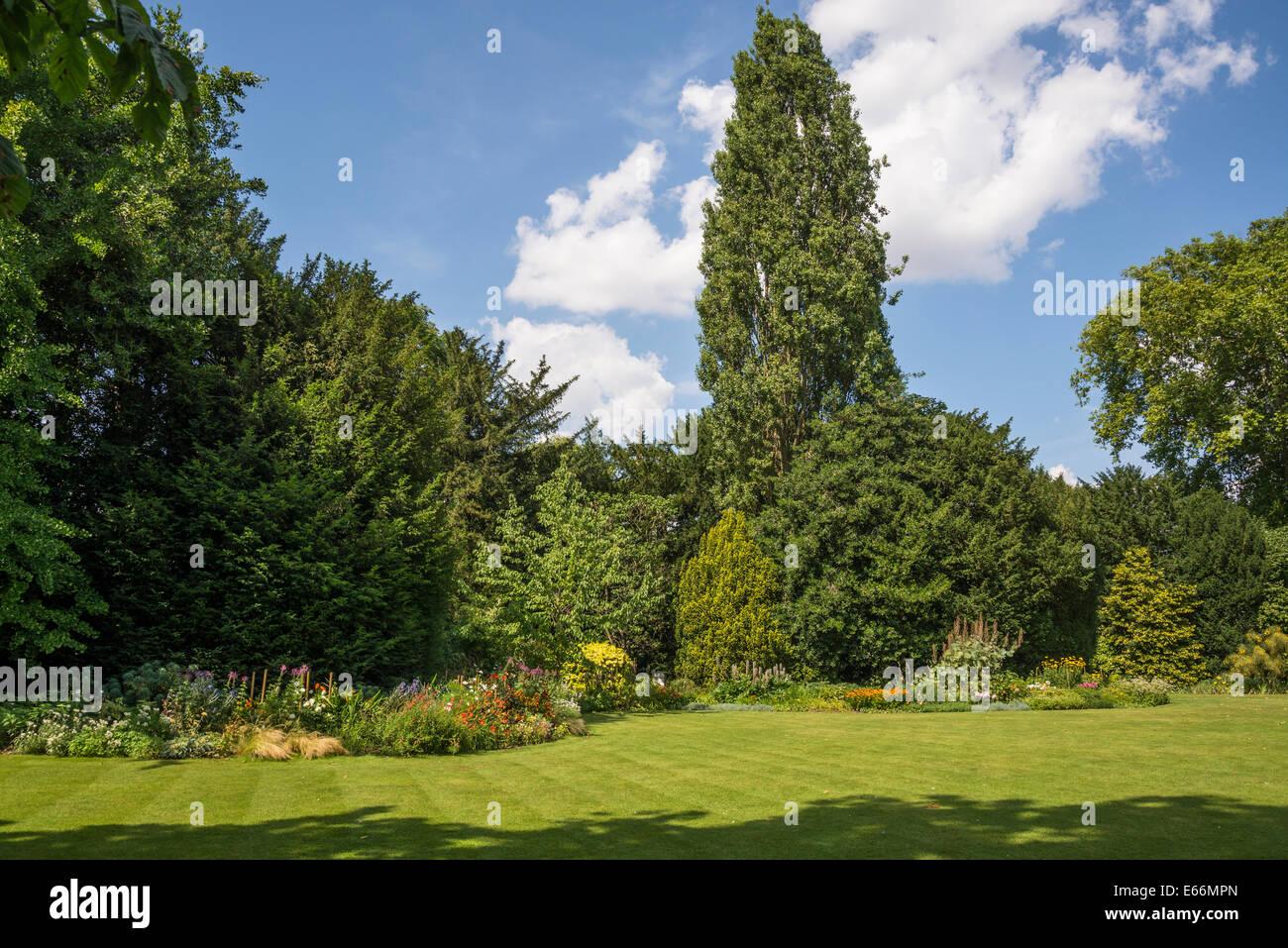Christ's College, Fellows' Garden, Cambridge, England, UK - Stock Image
