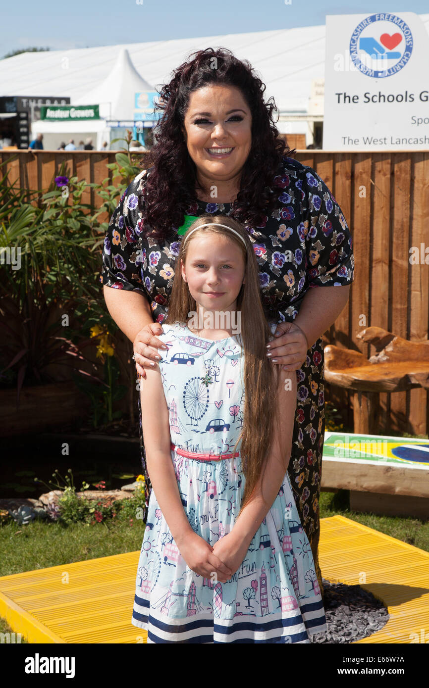 Southport, Merseyside, UK.  15th August, 2014.  Lisa Riley with Sophie Turner at  Britain's biggest independent Stock Photo
