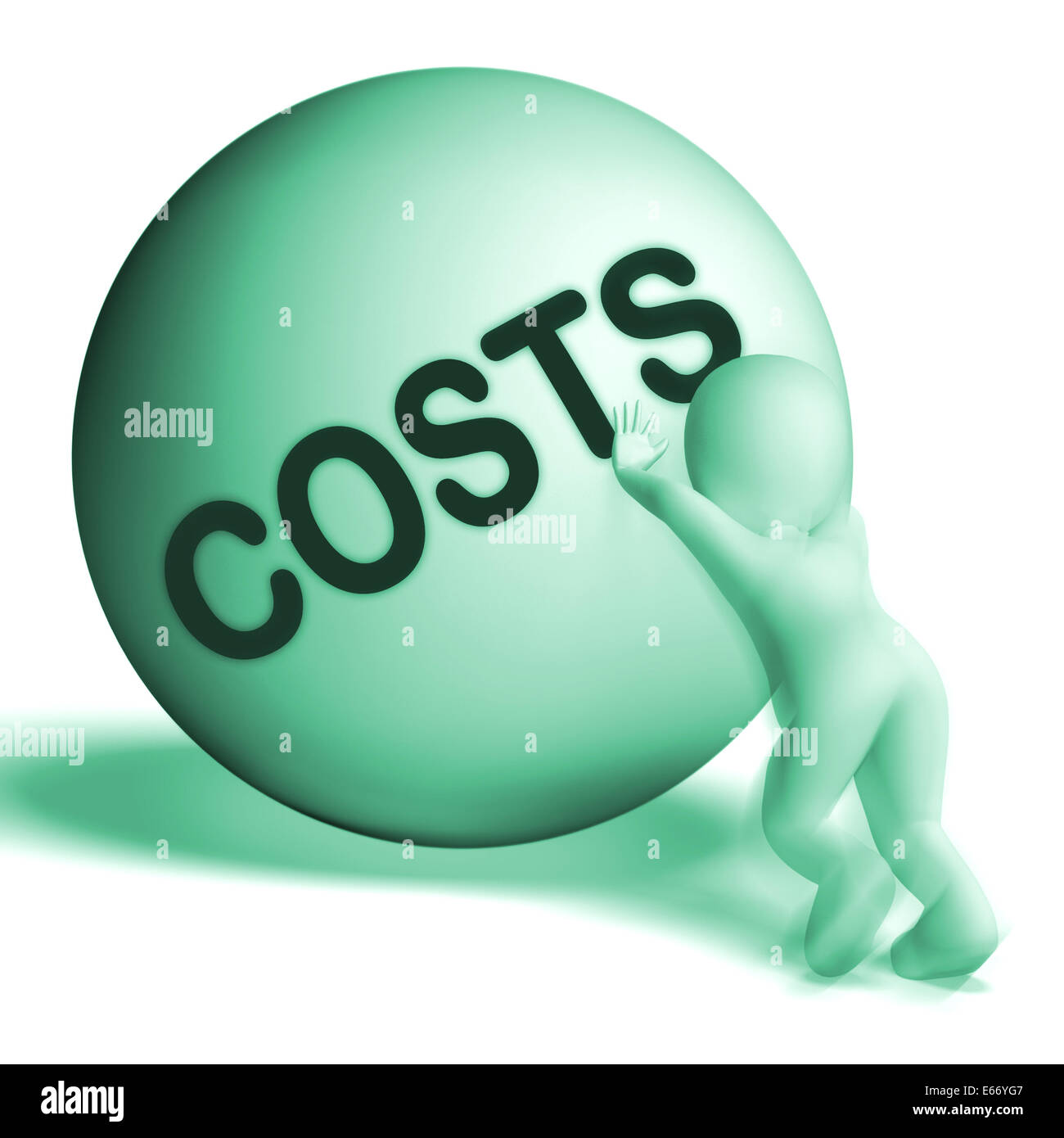 Costs Sphere Meaning Expenses Price And Outlay - Stock Photo
