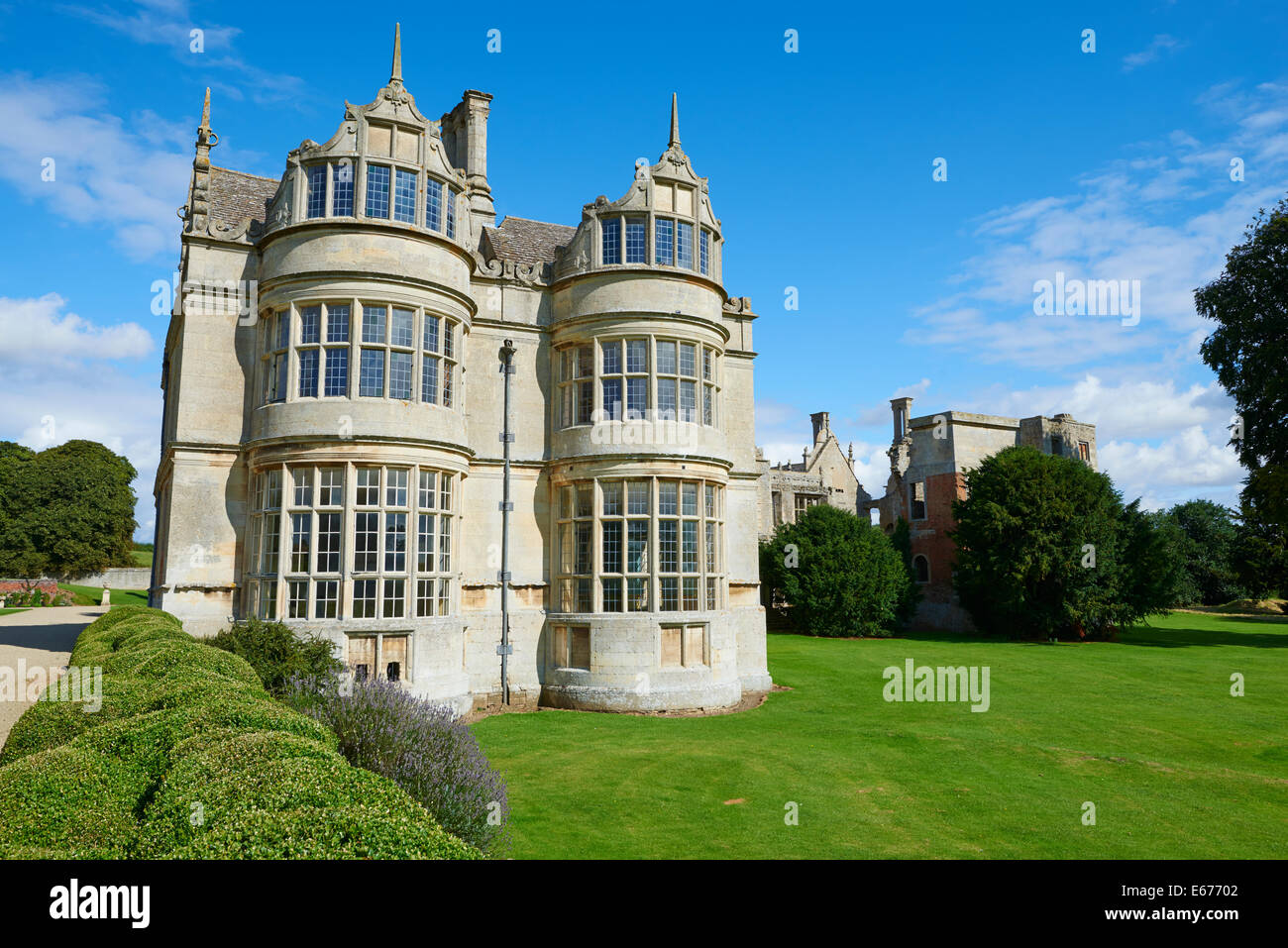 Kirby Hall An Elizabethan Country House Gretton Near Corby Northamptonshire - Stock Image