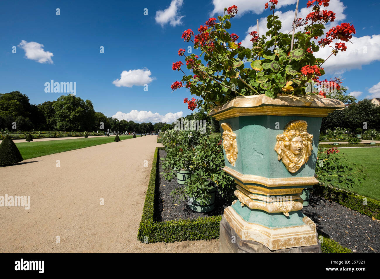 Gardens of the Schloss Charlottenburg Berlin Germany - Stock Image