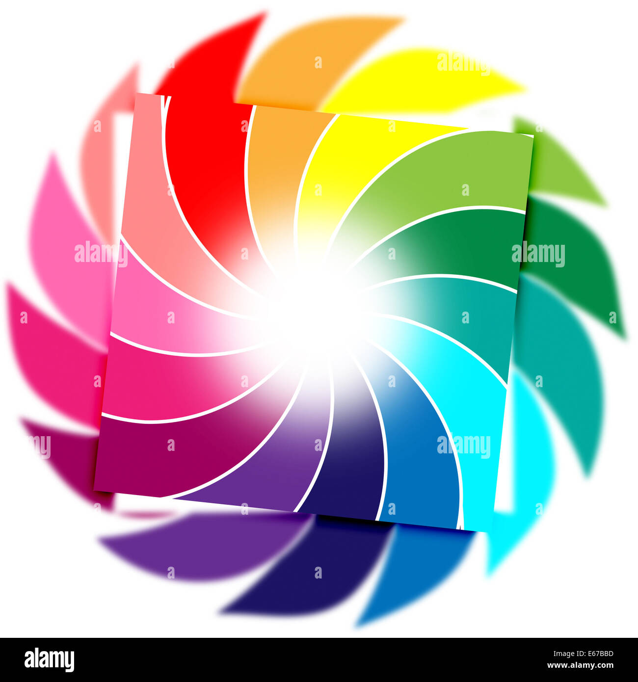 Background Spiral Representing Twist Abstract And Colours - Stock Image
