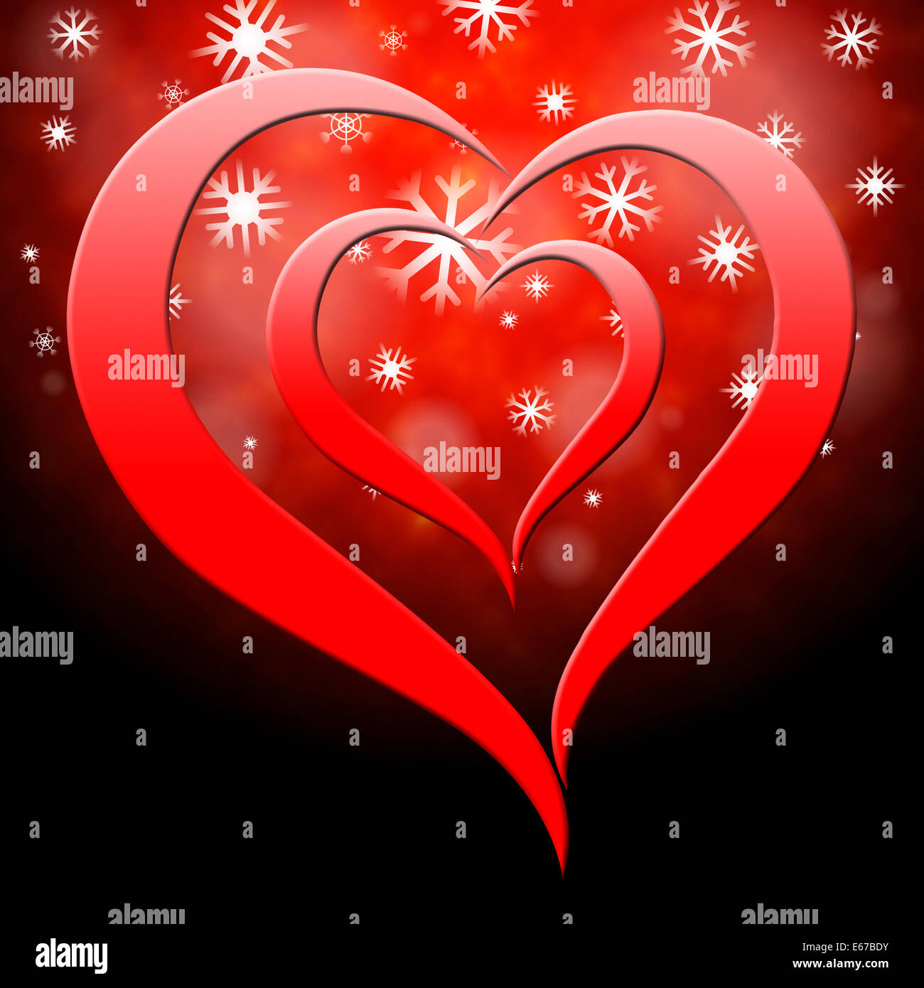 Heart Background Meaning Valentine Day And Backgrounds Stock Photo