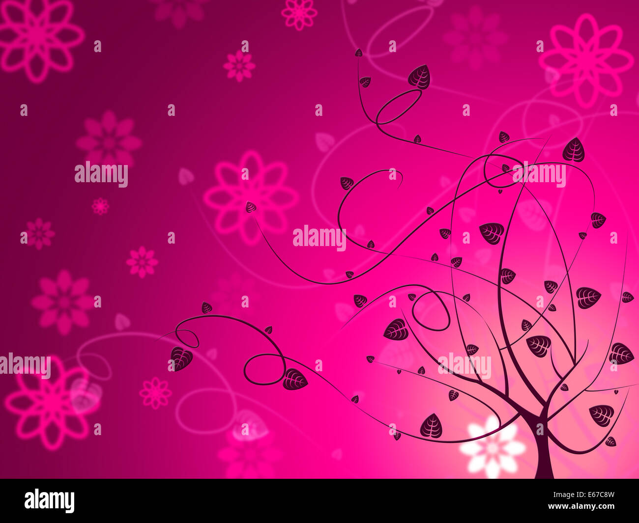 Floral Pink Meaning Florals Design And Flowers Stock Photo 72692729
