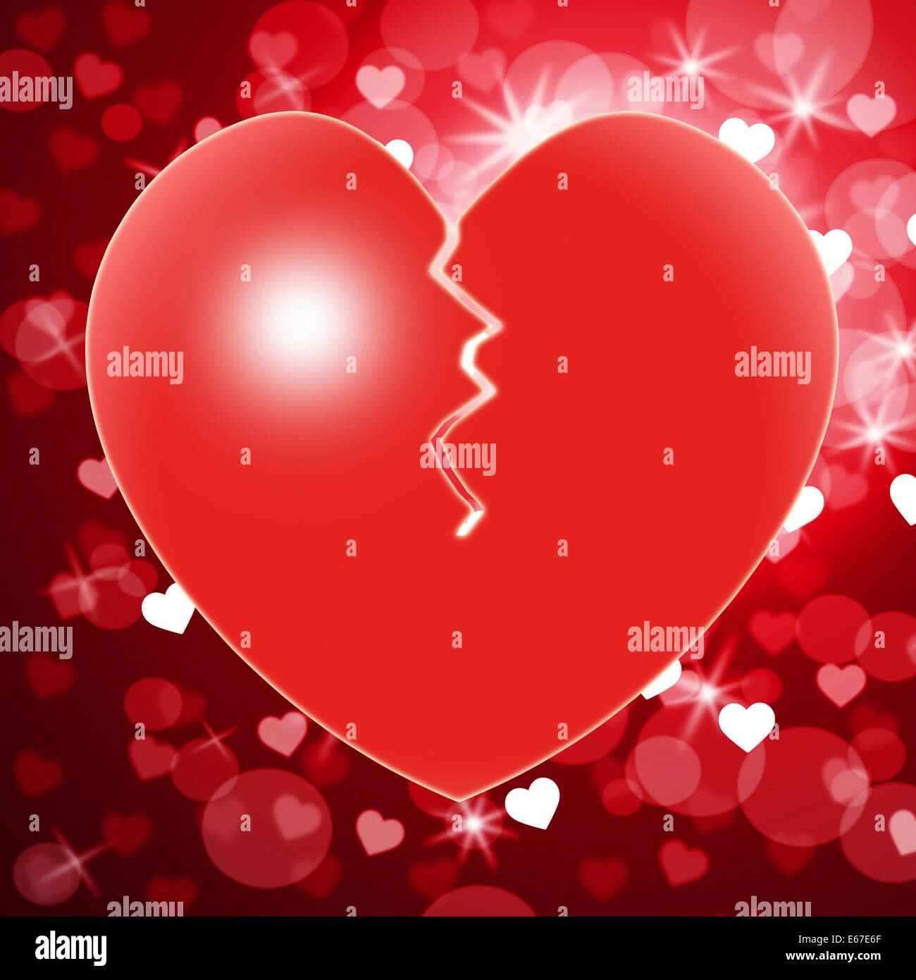 Broken Heart Meaning Valentines Day And Relationship Stock Photo