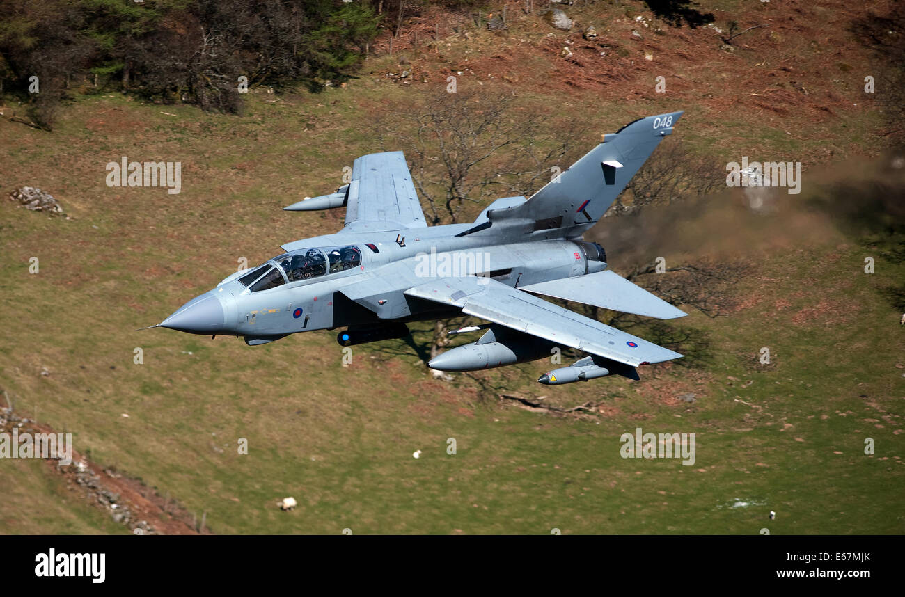 The Tornado GR4 is a variable geometry, two-seat, day or night, all-weather attack aircraft, capable of delivering - Stock Image