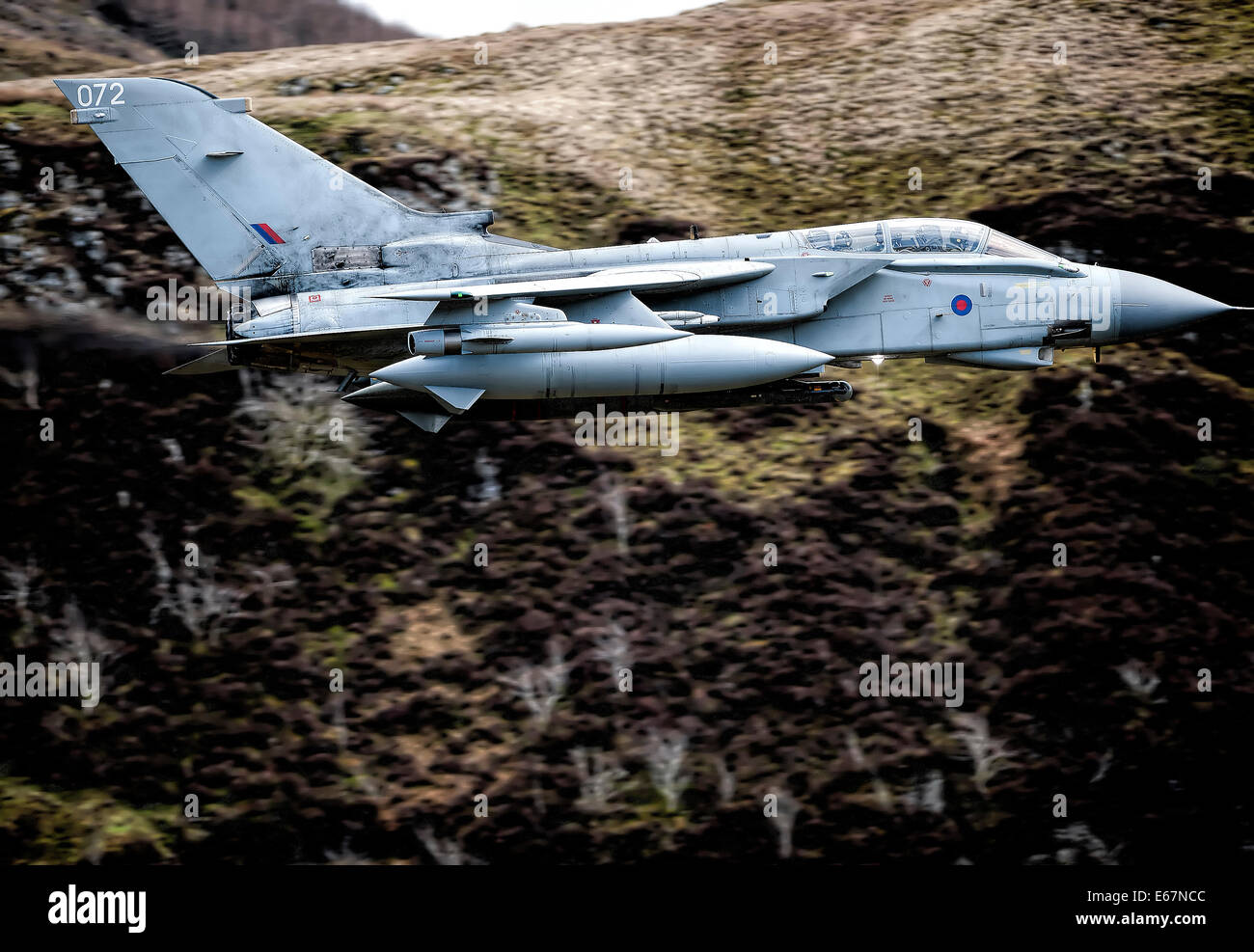 The Tornado GR4 is a variable geometry, two-seat, day or night, all-weather attack aircraft, Stock Photo