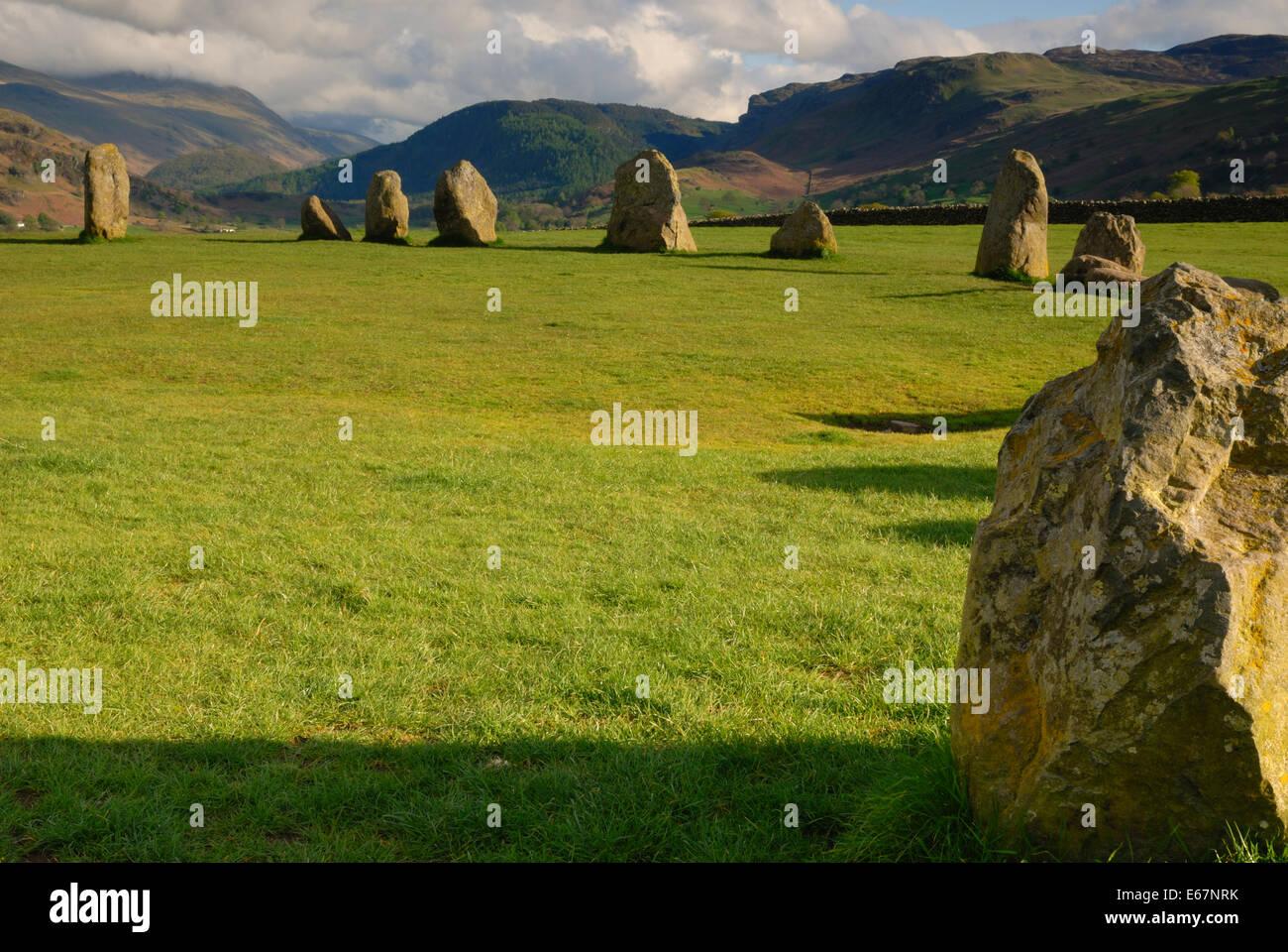Castle Rigg Stone Cirlce, Keswick - Stock Image