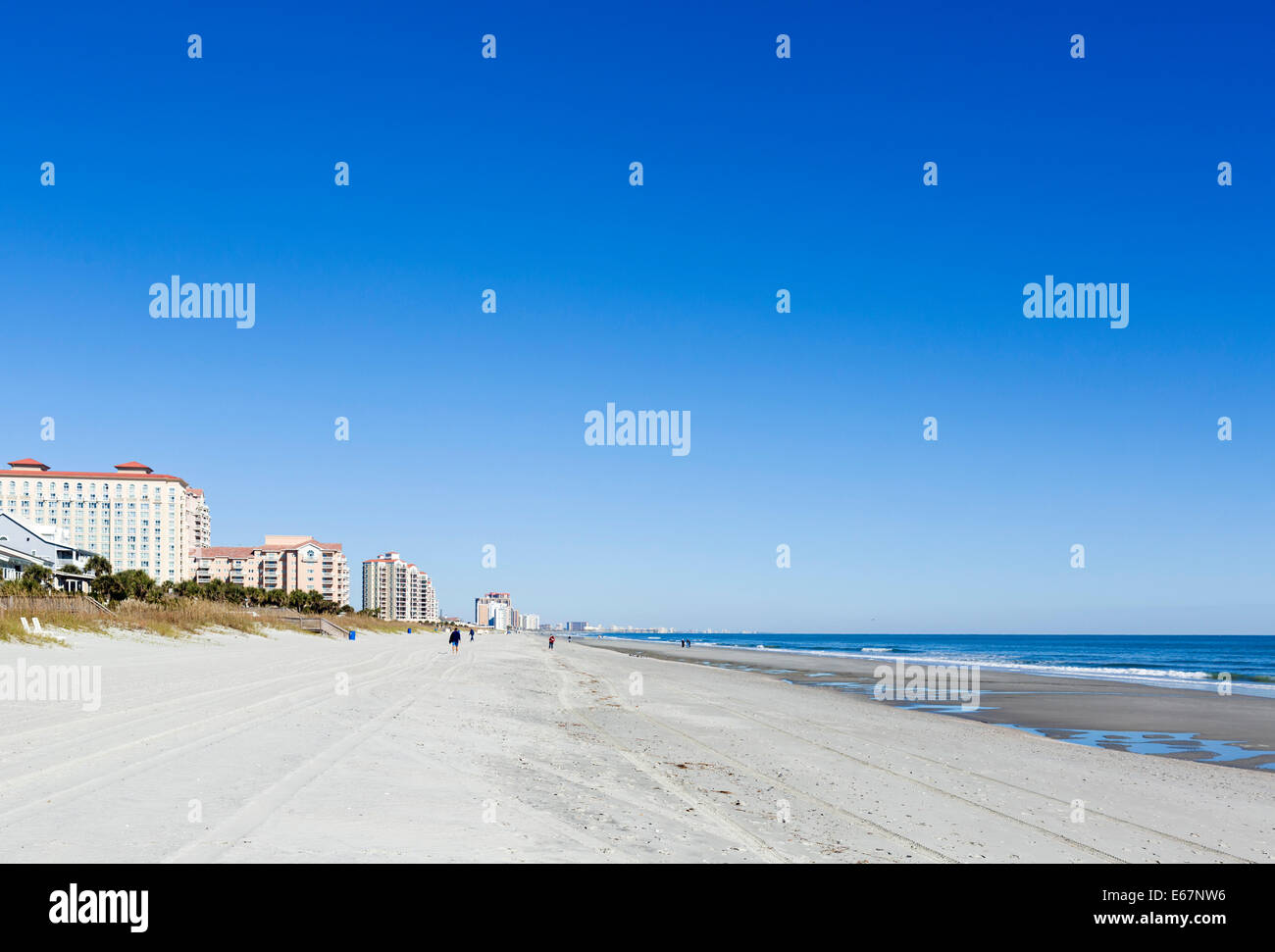 The northern end of Myrtle Beach, South Carolina, USA - Stock Image