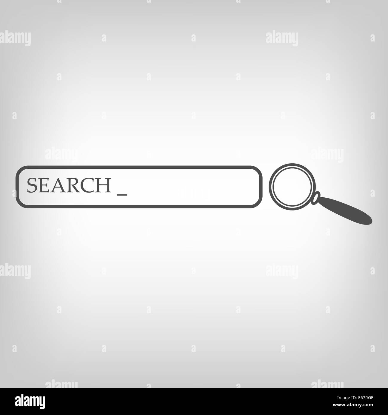 Search bar and magnifying glass - Stock Image