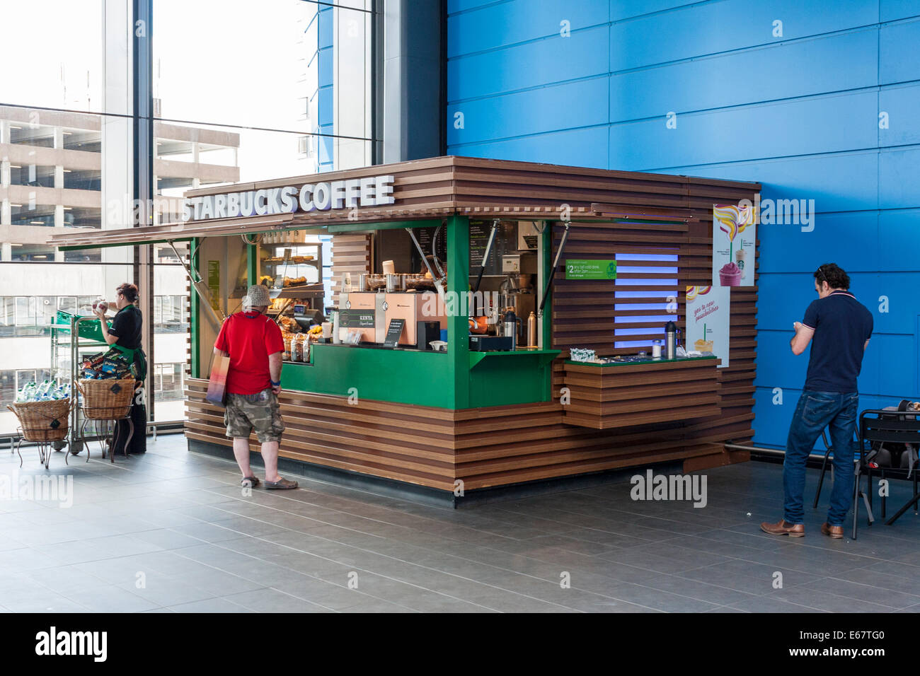 Starbucks Coffee Stall At A Mainline Train Station Reading