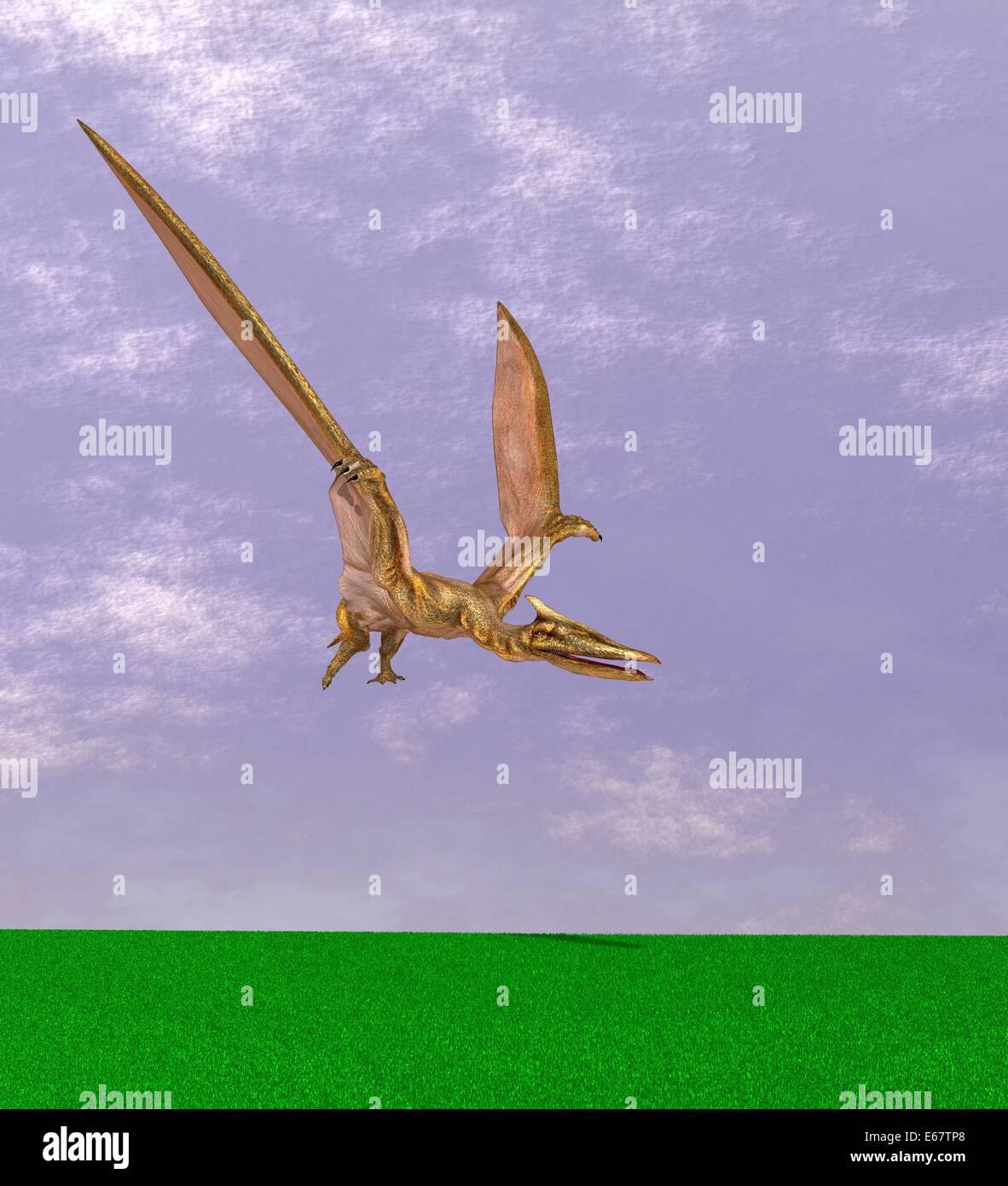 Dinosaurier Quetzalcoatlus / dinosaur QuetzalcoatlusStock Photo