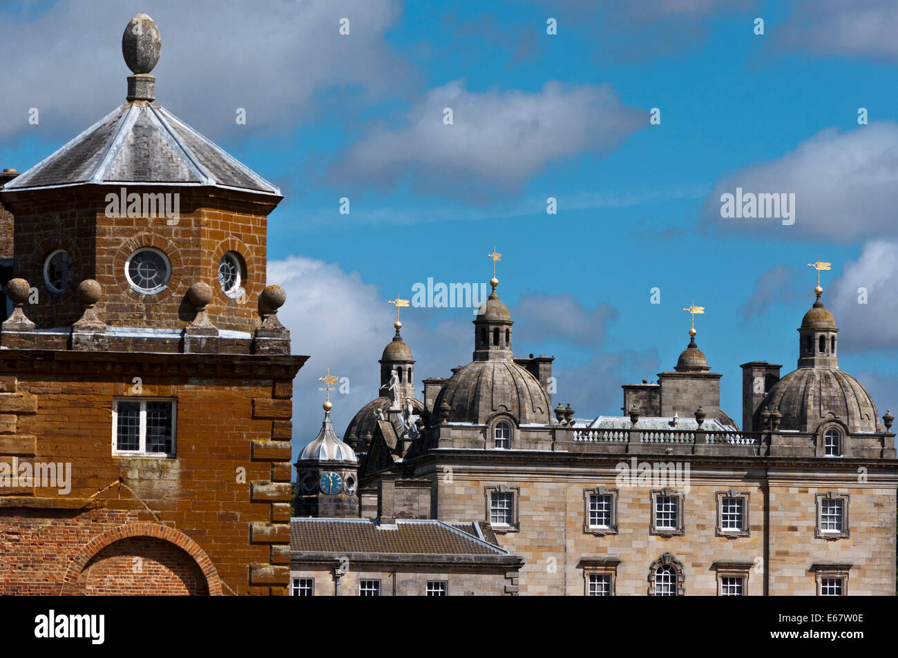 Houghton Hall Stately home - Stock Image