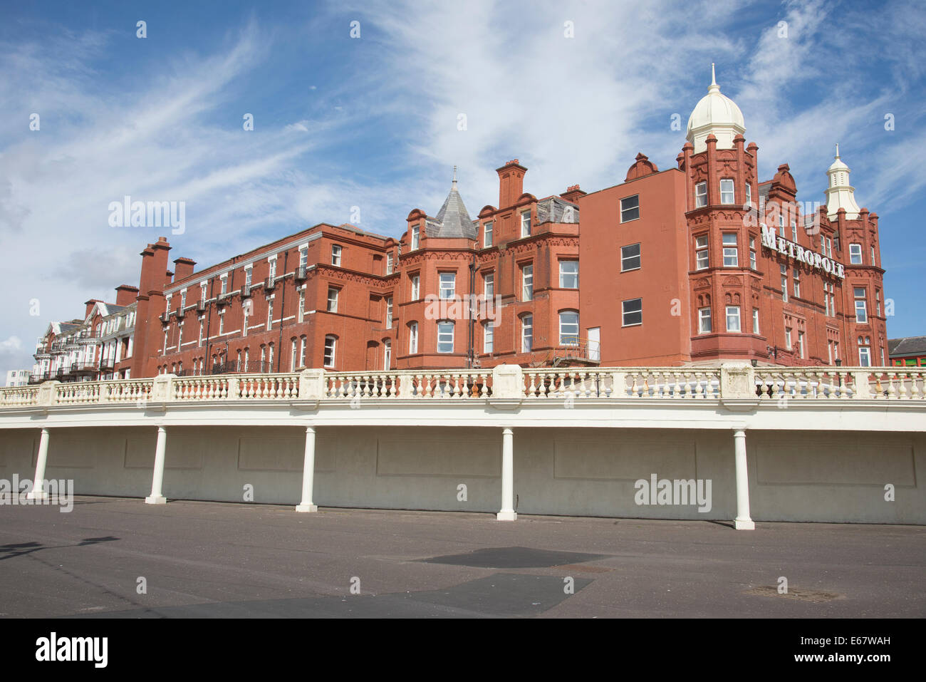 Metropole Hotel Blackpool Lancashire England UK Seen on a summer day in August 2014 and nobody in sight - Stock Image