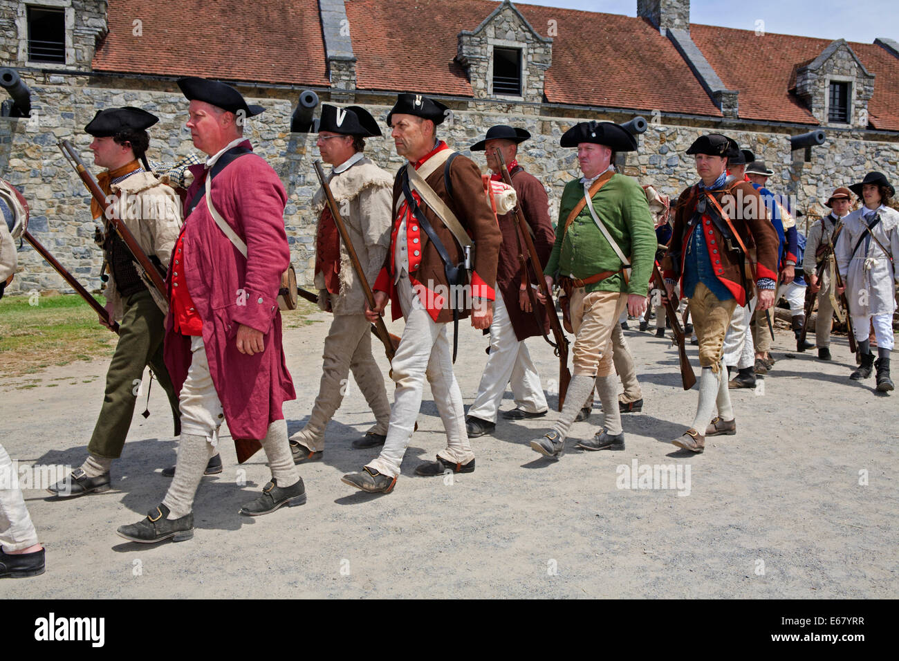 American Revolutionary War Uniform Stock Photos & American