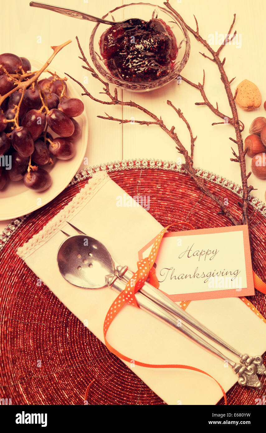 Happy Thanksgiving lunch, brunch or casual modern dining shabby chic ...