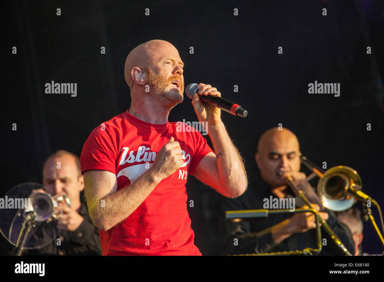 Remenham Henley-on-Thames Oxfordshire UK. 17 August 2014. Singer JIMMY SOMERVILLE performs on-stage at the 2014 Stock Photo