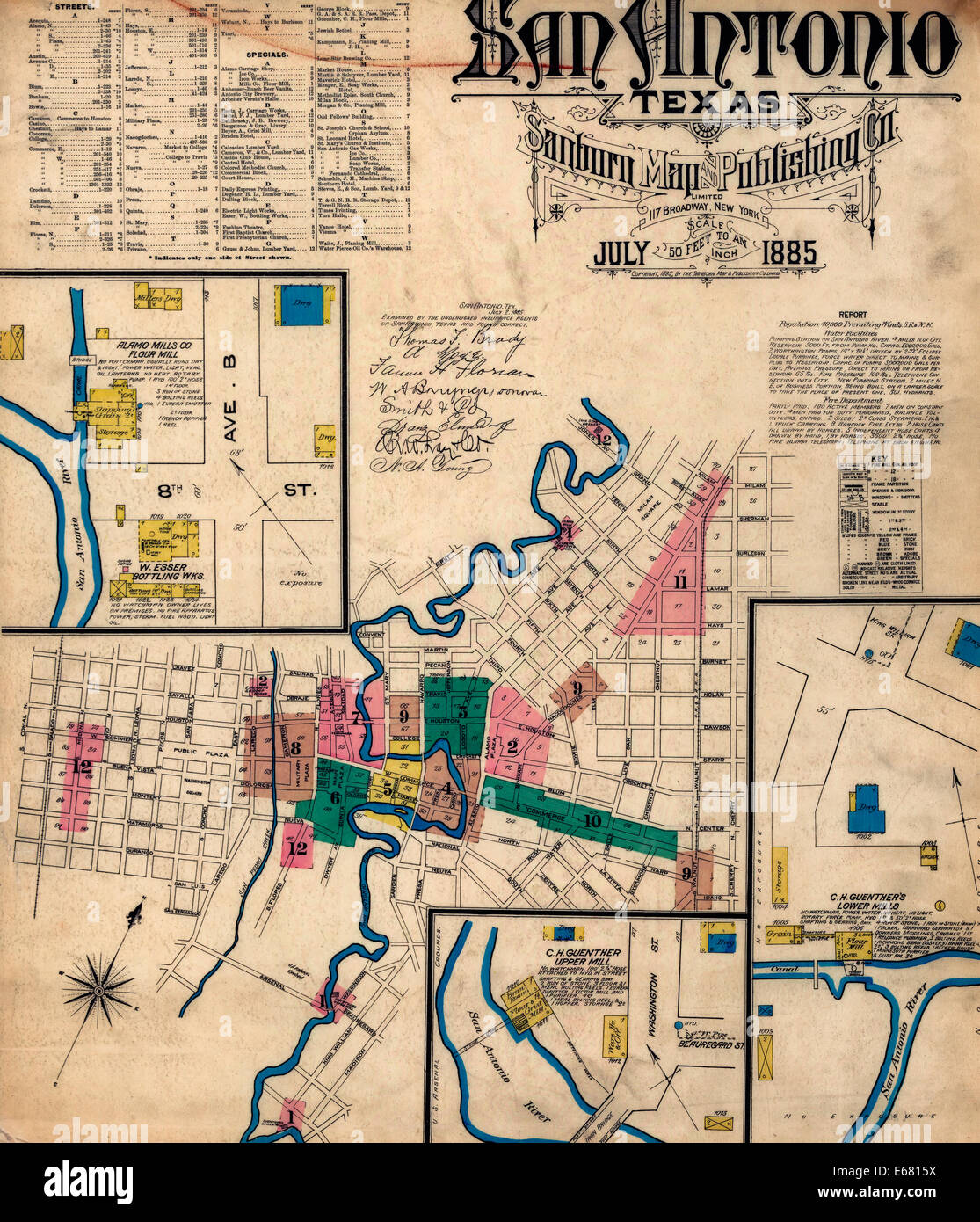 Sanborn Fire Insurance Map from San Antonio, Bexar County ... on alamo blueprints, brooke army medical center map, san francisco de asis mission map, alamo on us map, alamo area map, alamo colleges map, alamo mission layout, battle of alamo location map, alamo battle 1836 map, alamo city tx, alamo hawaii map, storming of bexar map, city of austin etj map, alamo battlefield map, alamo nevada map, san jacinto goliad texas map, the alamo map, alamo location on map, alamo original map, fort alamo map,