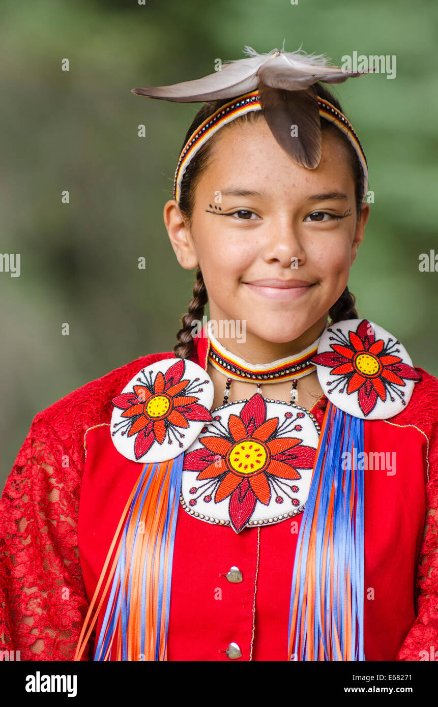 Girl First Birthday Outfit Pinterest: Traditional Costumed Native First Nation Girl Powwow Pow