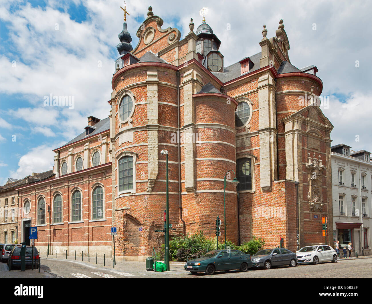BRUSSELS, BELGIUM - JUNE 15, 2014: The church Notre Dame aux Riches Claires. - Stock Image
