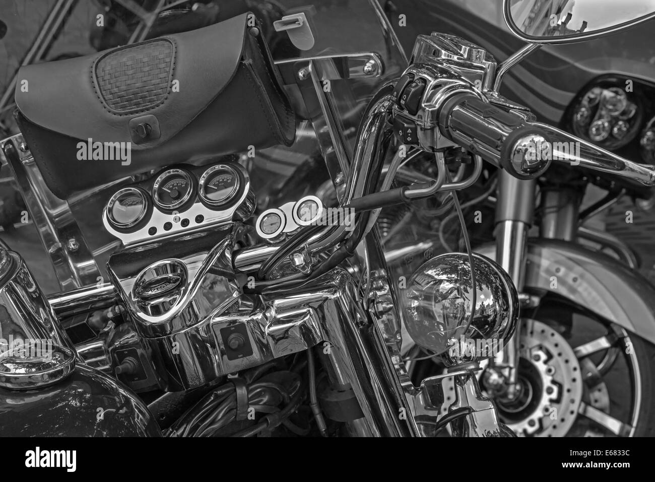 Detail of the bike - Stock Image