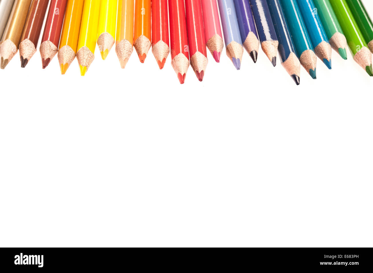 colouring pencils - Stock Image